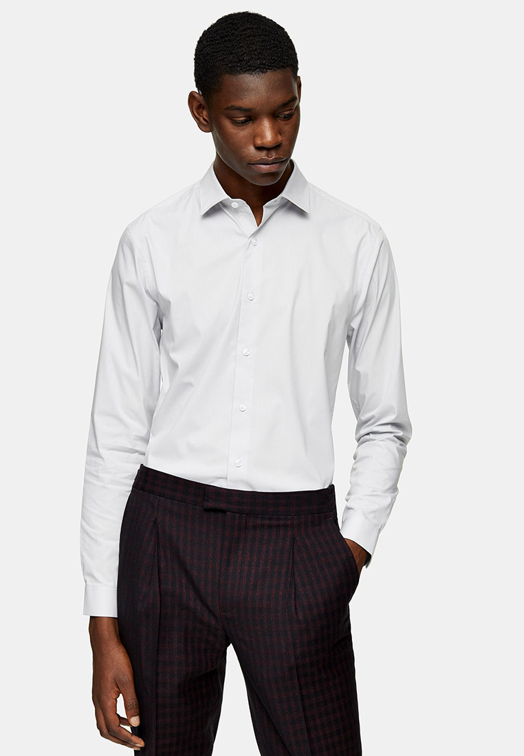 Рубашка с длинным рукавом Topman (Топмэн) 84L04TGRY