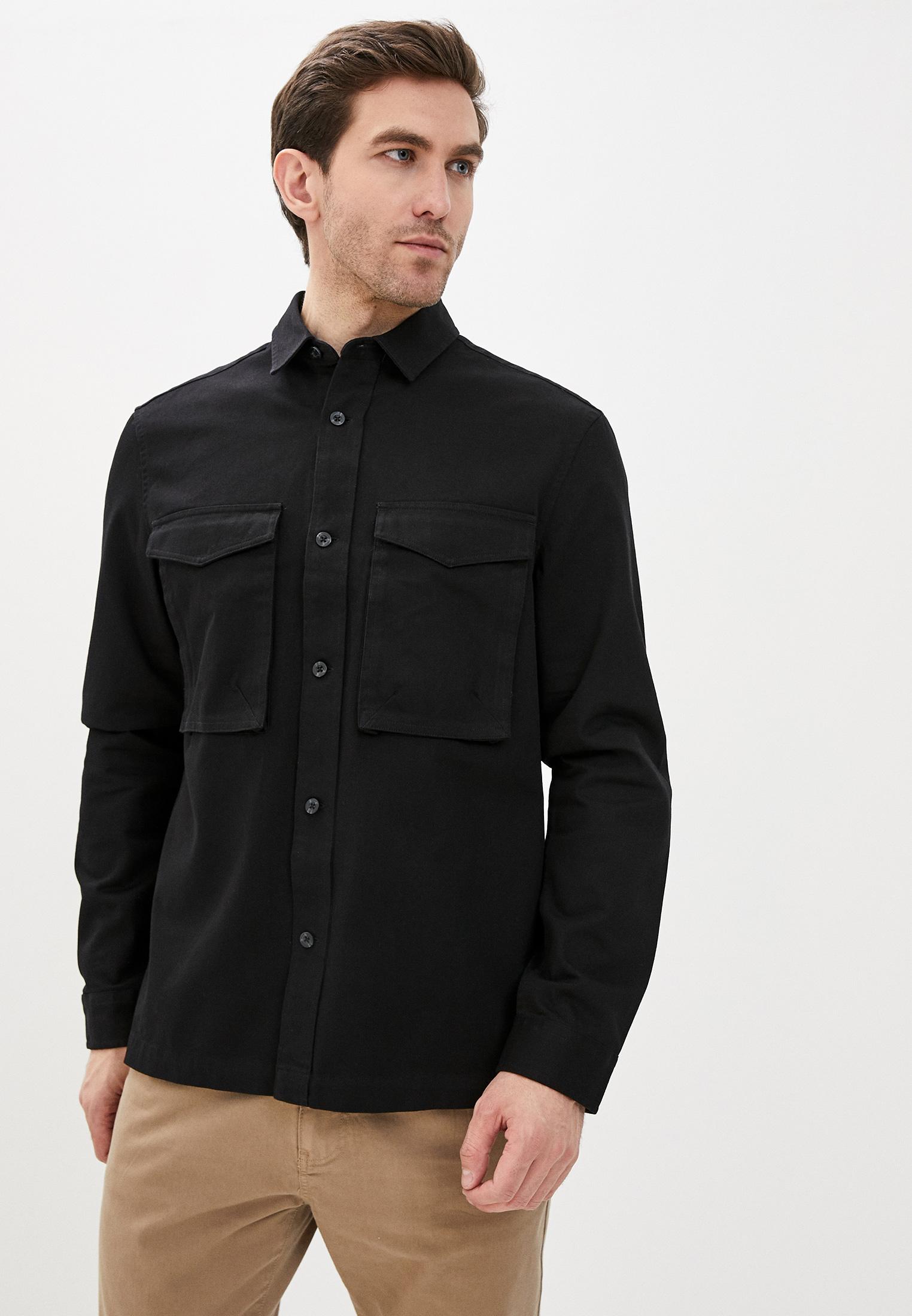 Рубашка с длинным рукавом Topman (Топмэн) 83O19UBLK