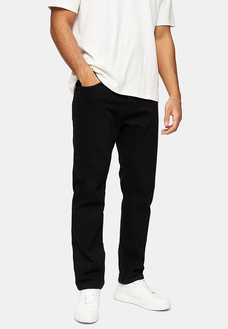 Мужские прямые джинсы Topman (Топмэн) 69H61TBLK