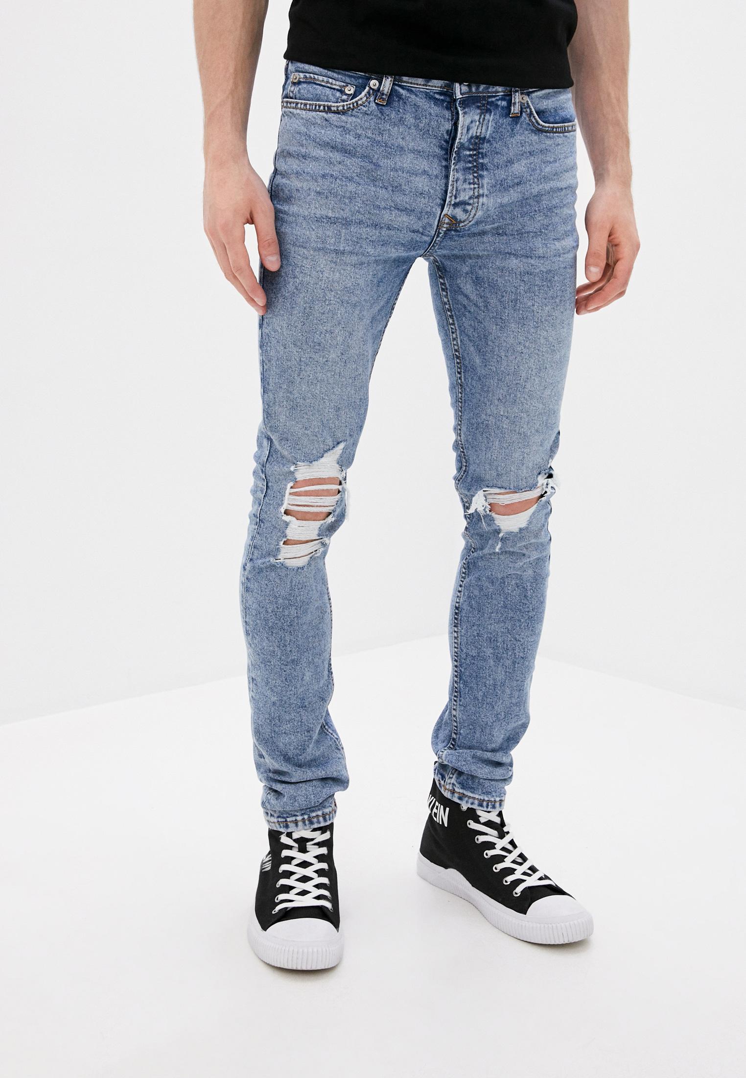 Зауженные джинсы Topman (Топмэн) 69F35TLST