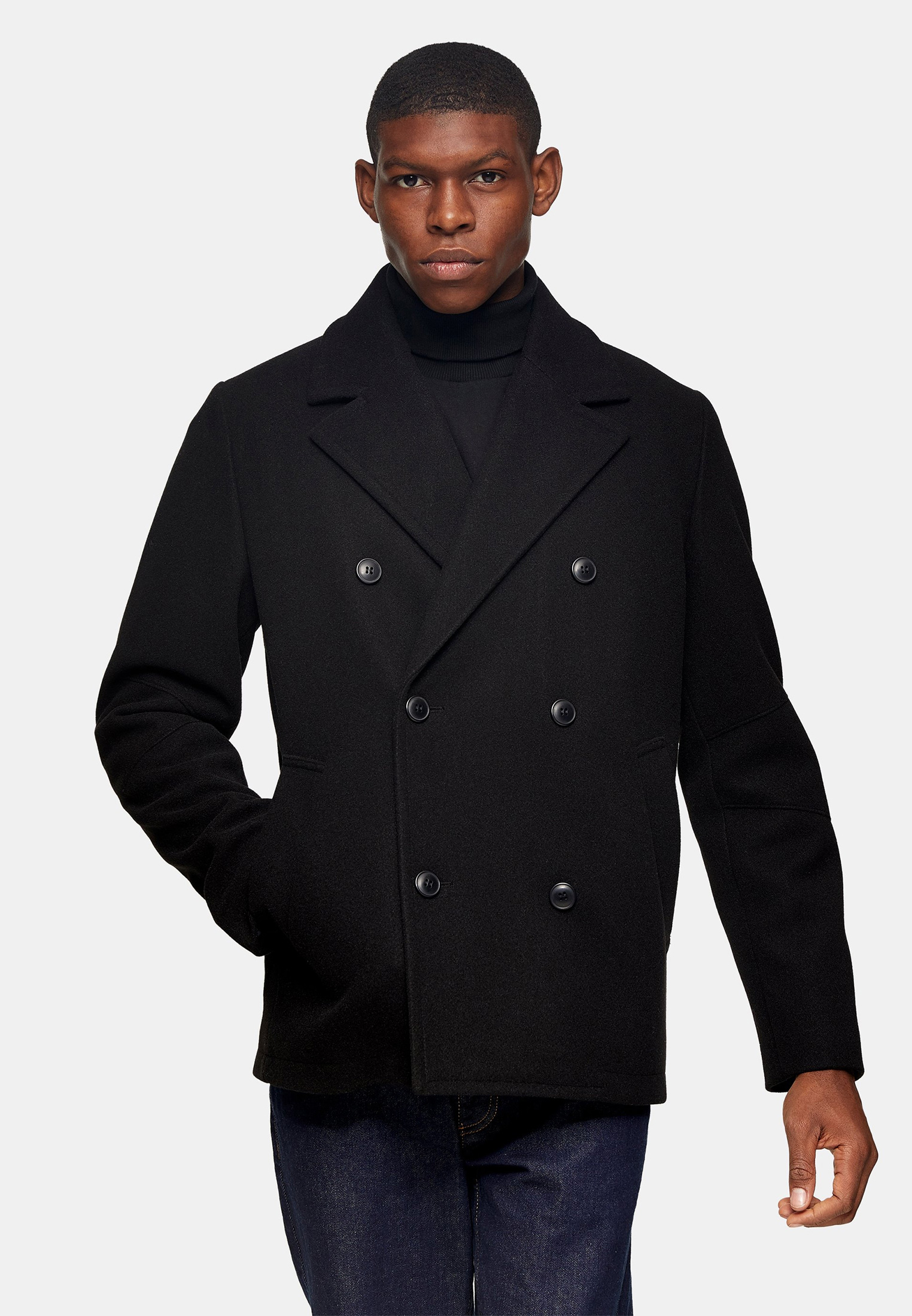 Мужские пальто Topman (Топмэн) 64D10UBLK