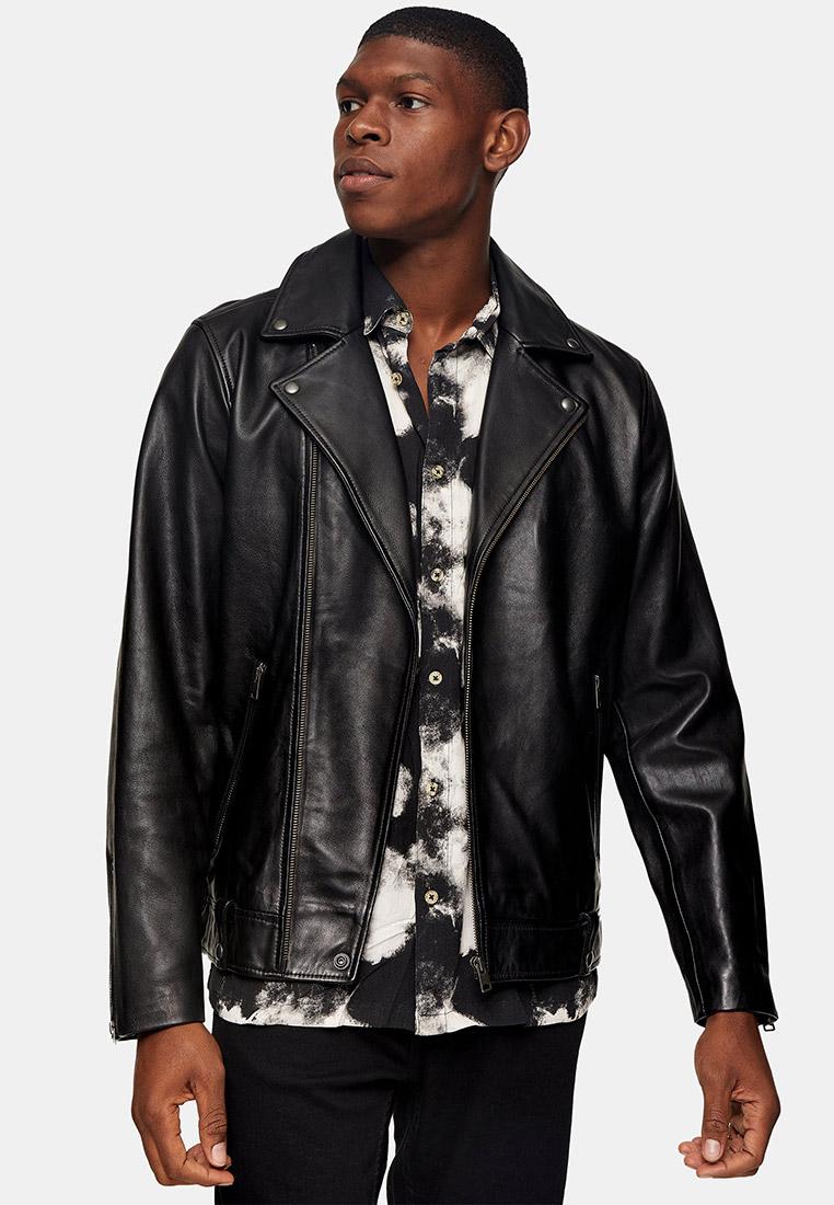 Кожаная куртка Topman (Топмэн) 64L11UBLK