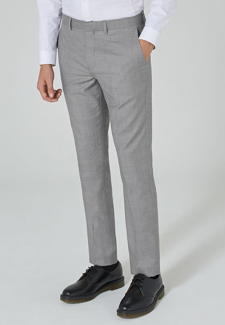 Мужские прямые брюки Topman (Топмэн) 87T36PGRY