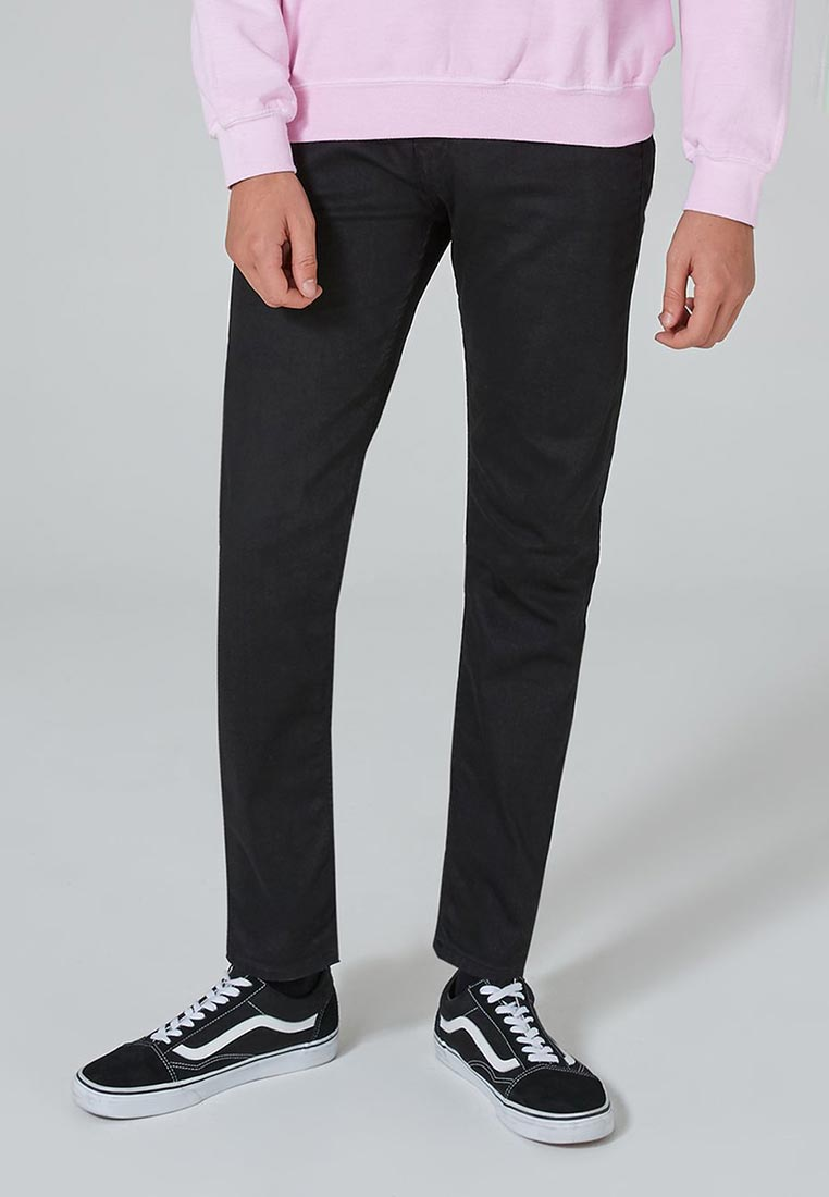 Зауженные джинсы Topman (Топмэн) 69J06PBLK: изображение 1
