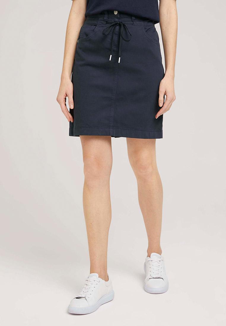 Прямая юбка Tom Tailor (Том Тейлор) Юбка джинсовая Tom Tailor
