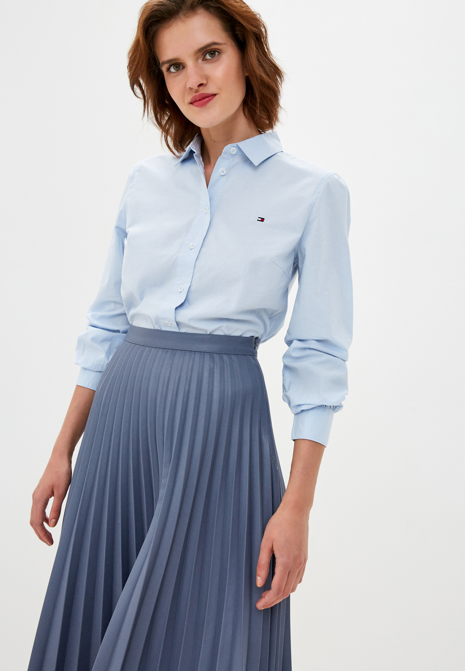 Женские рубашки с длинным рукавом Tommy Hilfiger (Томми Хилфигер) WW0WW27371