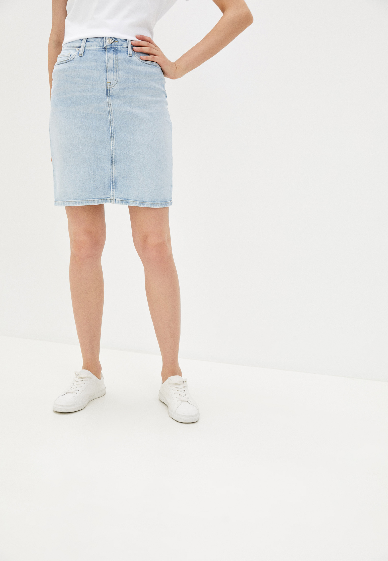 Джинсовая юбка Tommy Hilfiger (Томми Хилфигер) WW0WW28085