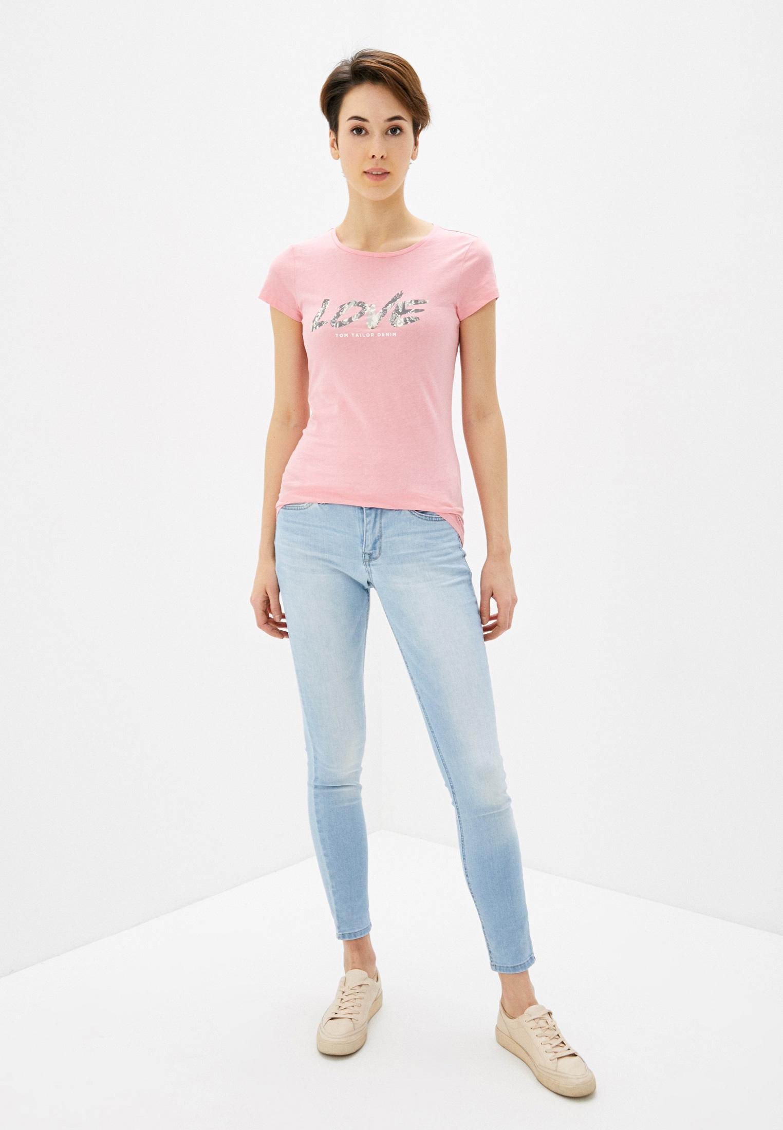 Зауженные джинсы Tom Tailor Denim 1017148: изображение 2
