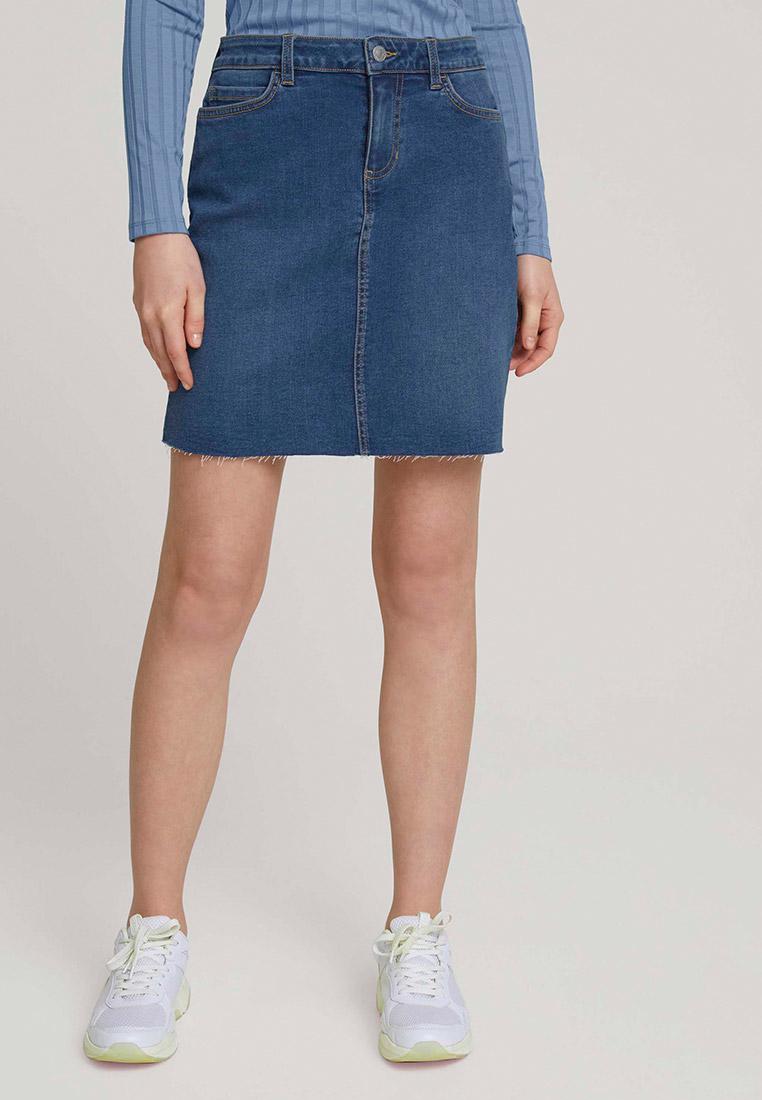 Джинсовая юбка Tom Tailor Denim Юбка джинсовая Tom Tailor Denim