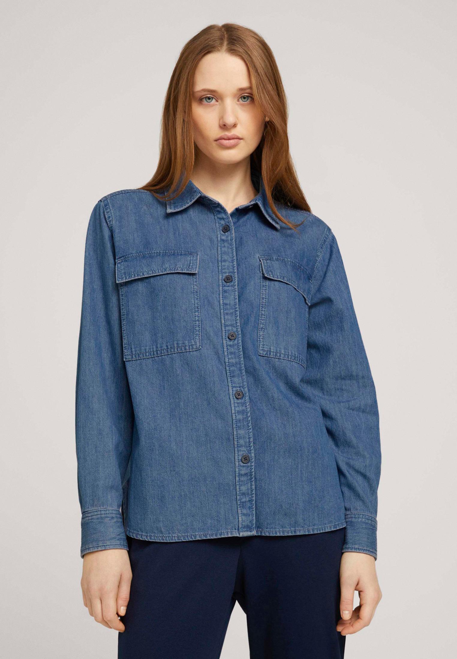 Женские джинсовые рубашки Tom Tailor Denim 1024851