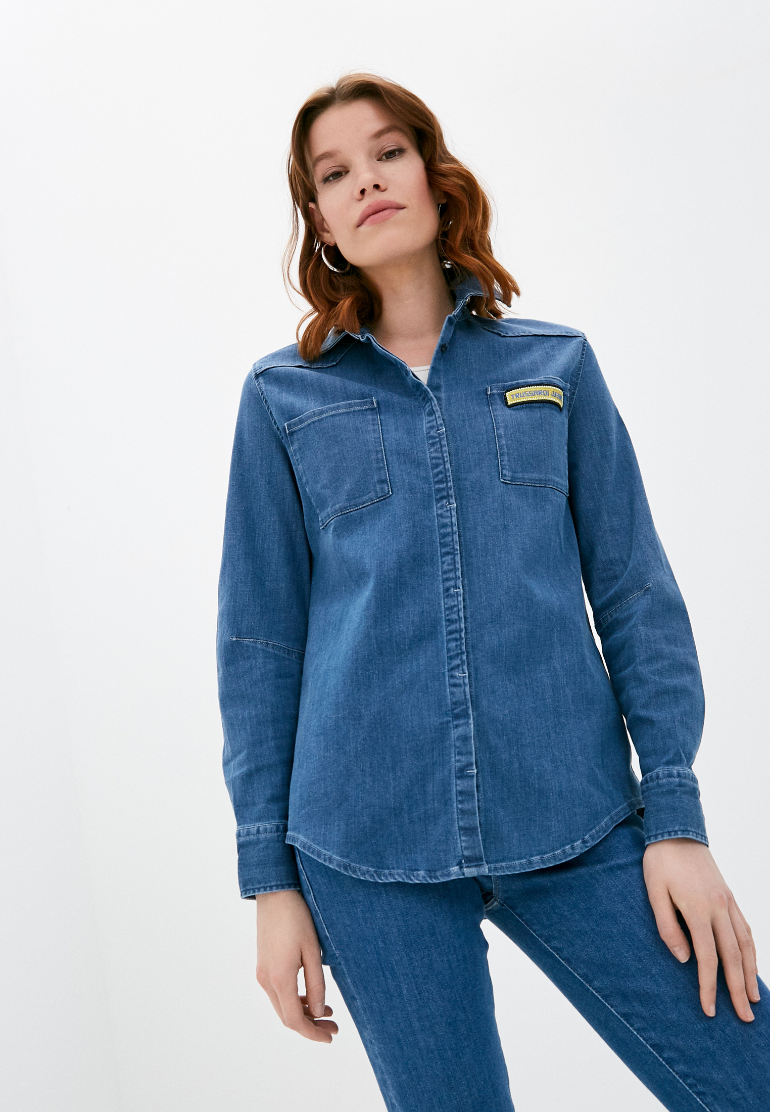 Женские джинсовые рубашки Trussardi Рубашка джинсовая Trussardi