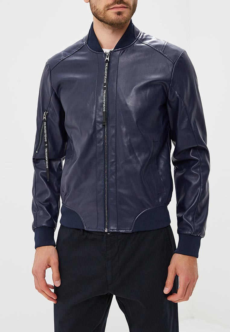 Кожаная куртка TRUSSARDI JEANS (Труссарди Джинс) 52s00192