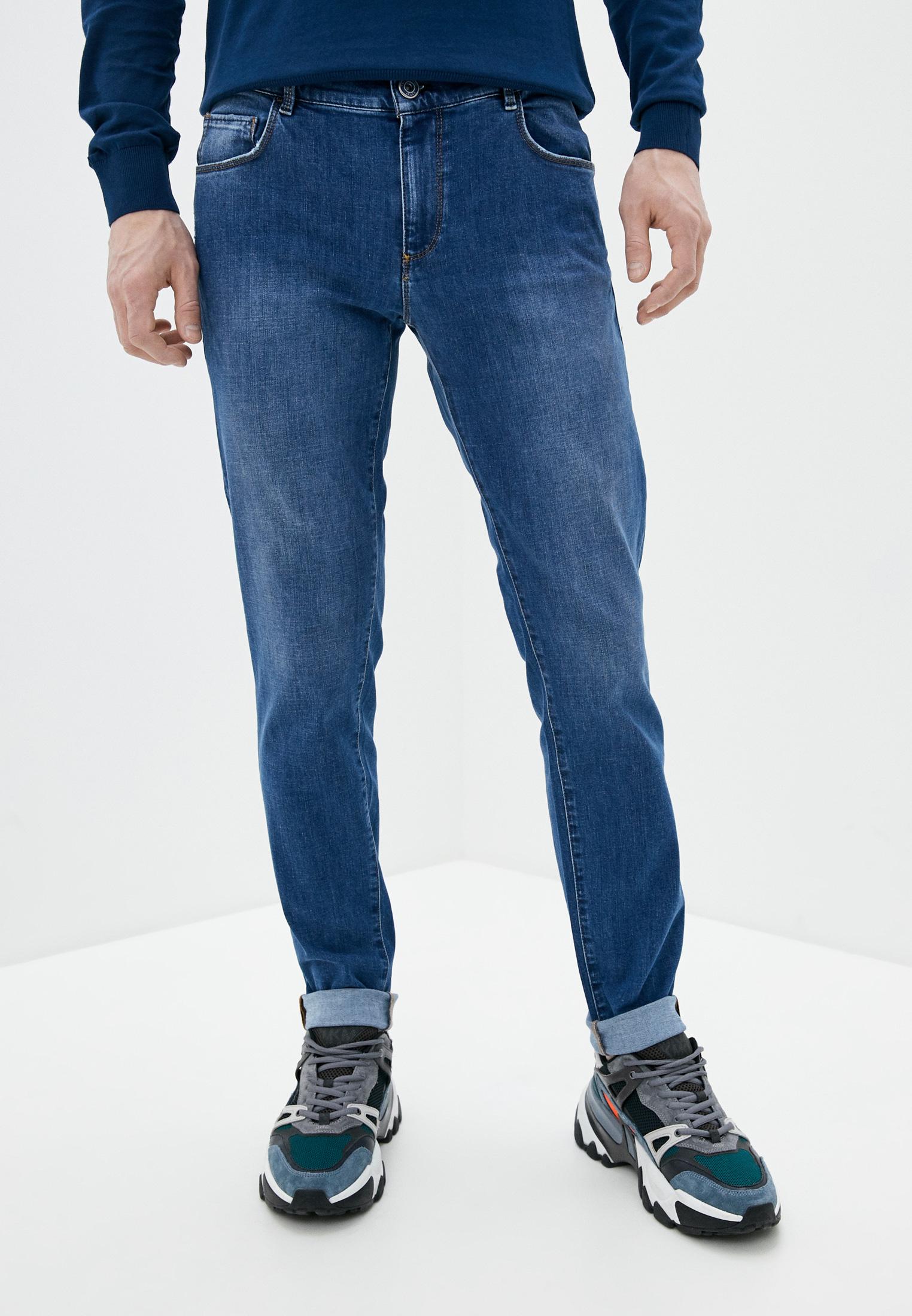 Мужские зауженные джинсы TRUSSARDI JEANS (Труссарди Джинс) 52j00017