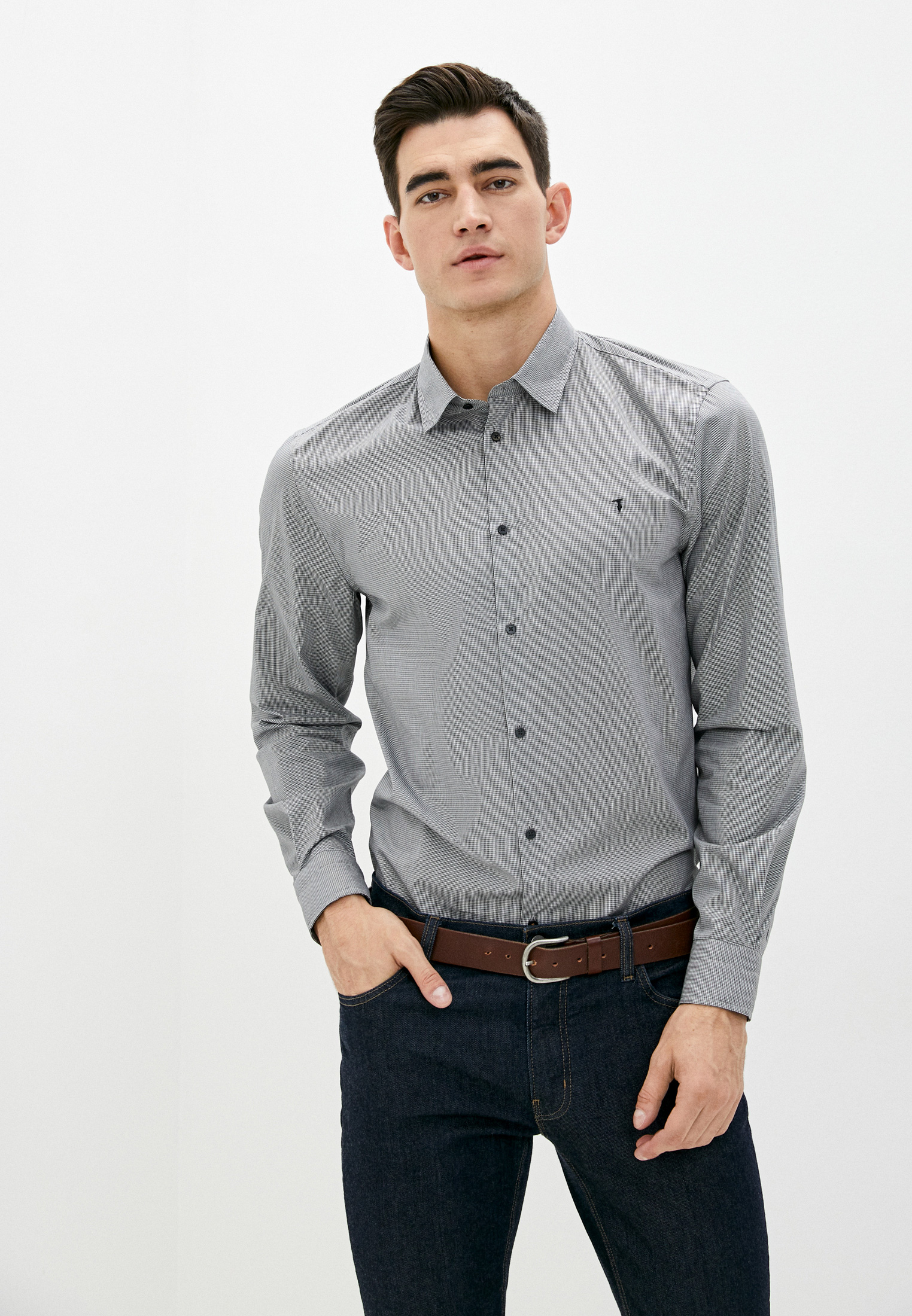 Рубашка с длинным рукавом TRUSSARDI JEANS (Труссарди Джинс) 52C00159-1T004321