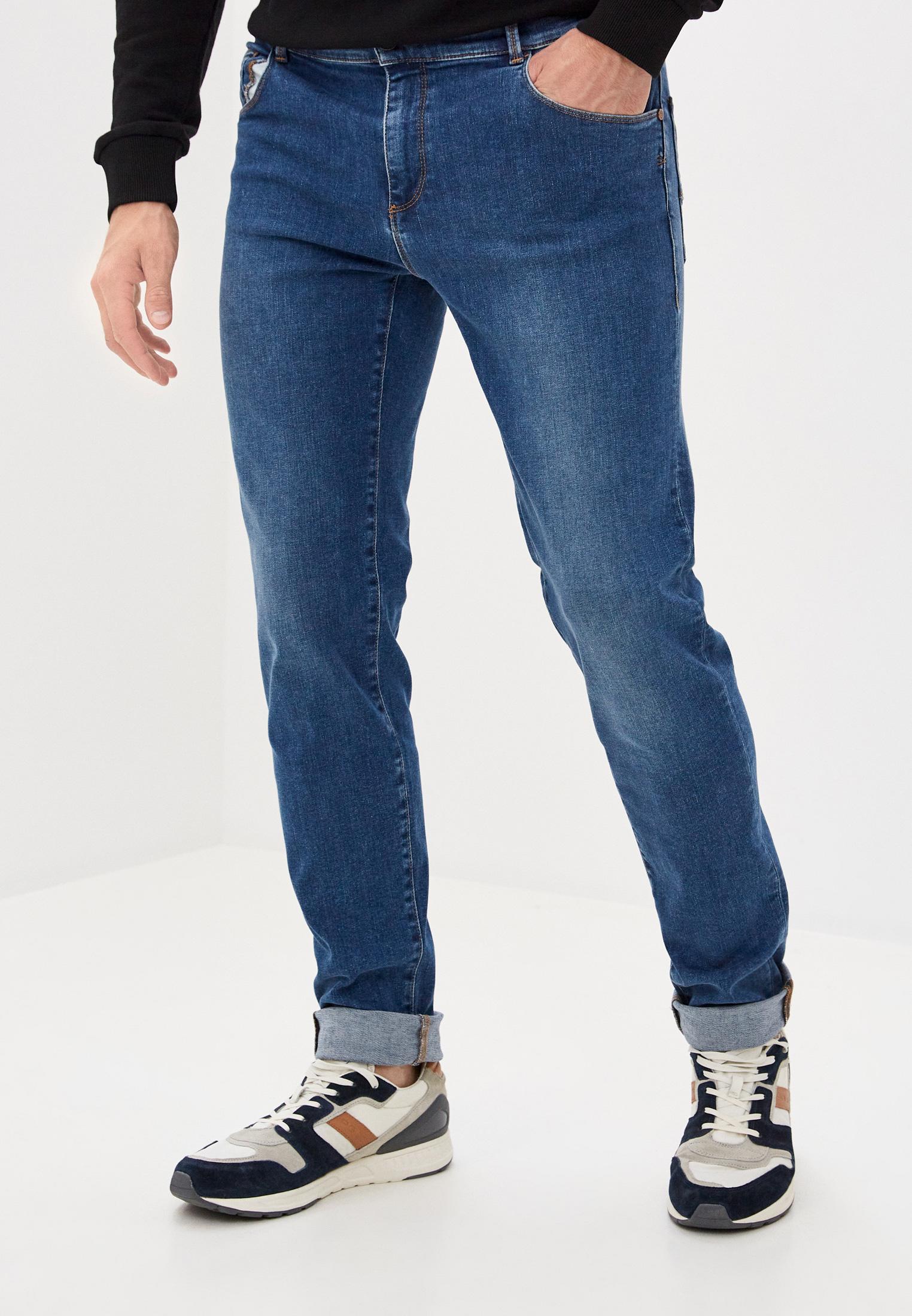 Мужские зауженные джинсы TRUSSARDI JEANS (Труссарди Джинс) 52J00000-1T004457
