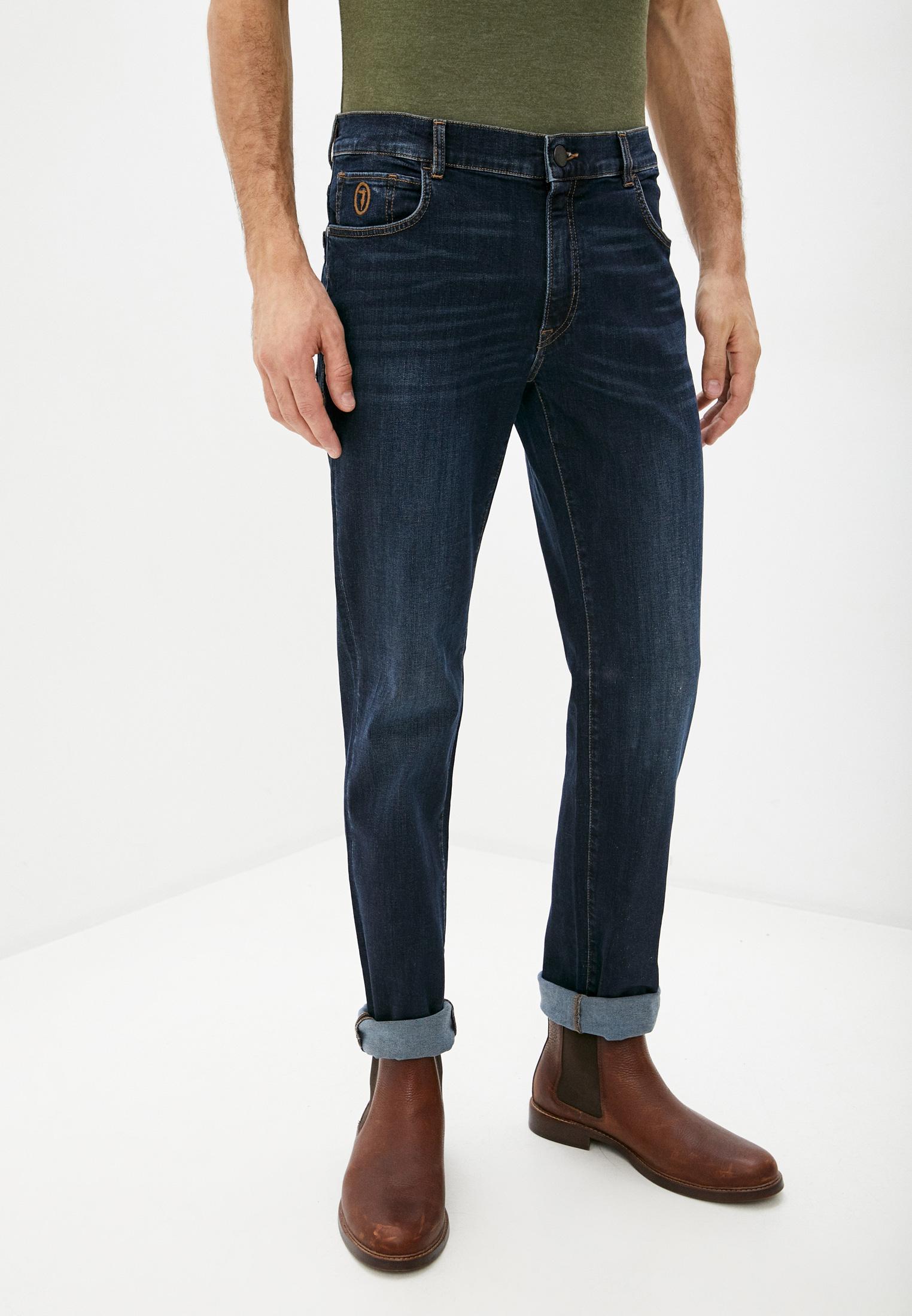 Мужские прямые джинсы TRUSSARDI JEANS (Труссарди Джинс) 52J00001-1T004457