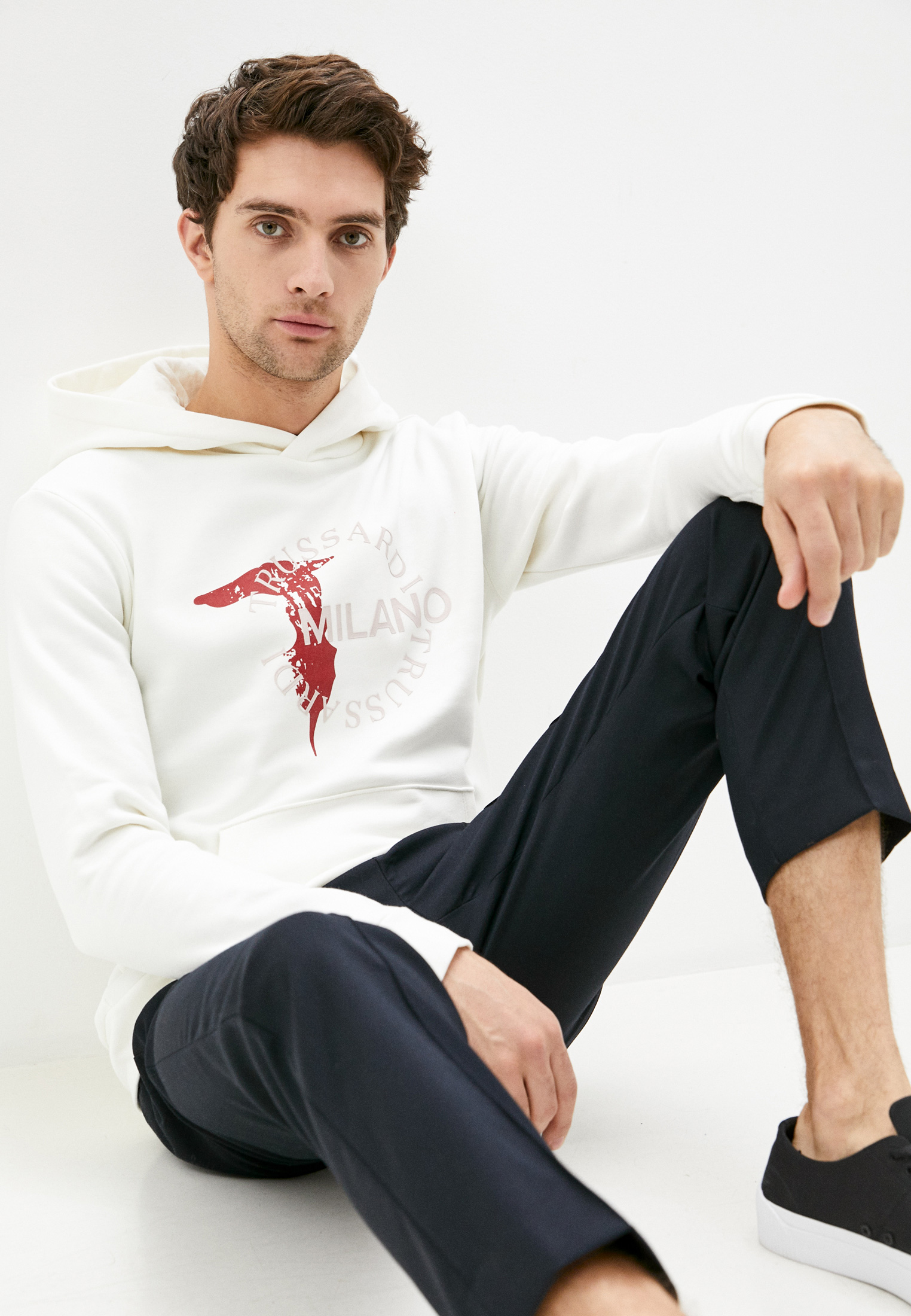 Мужские худи Trussardi Jeans (Труссарди Джинс) 52F00117-1T003047