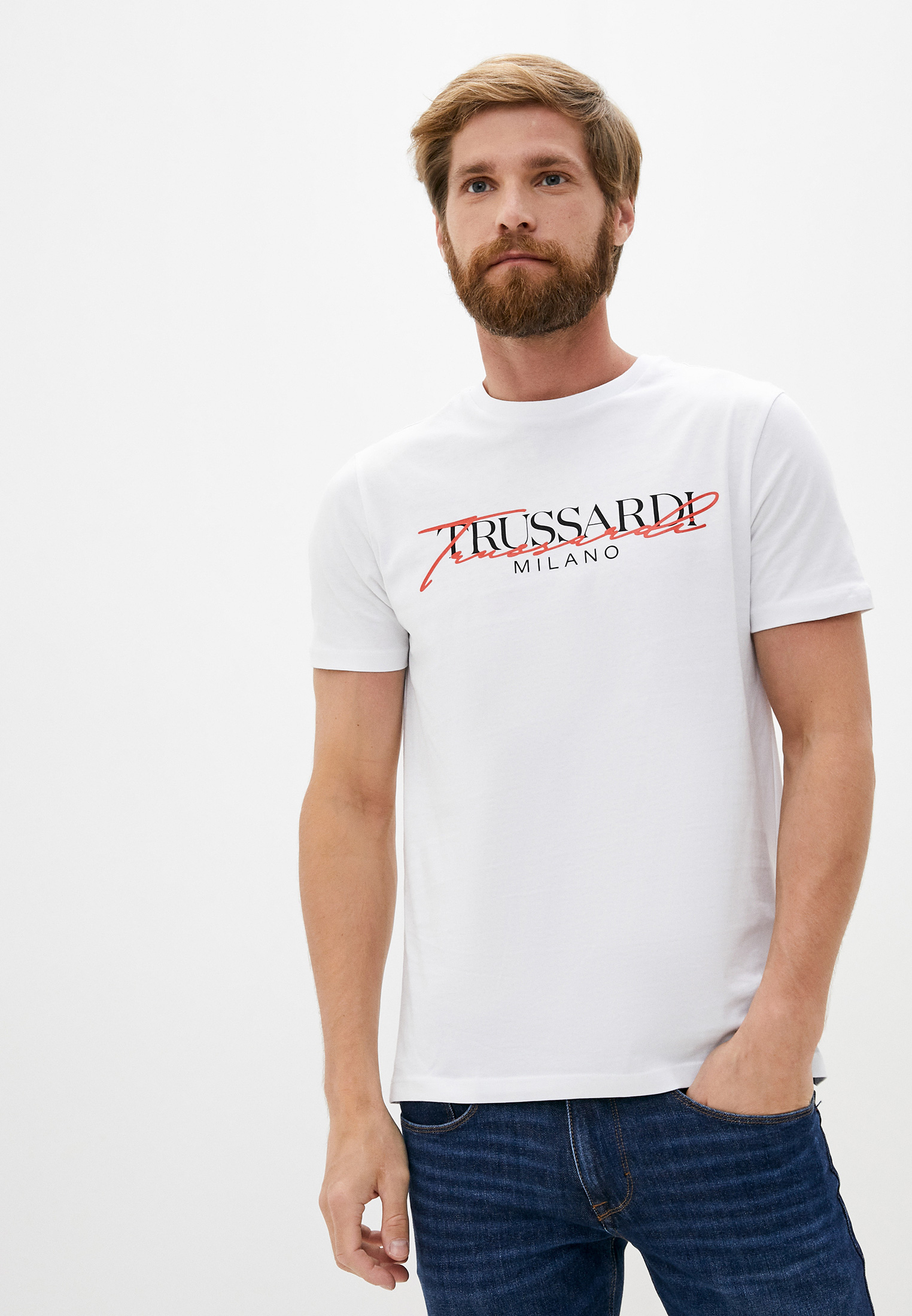 Мужская футболка Trussardi (Труссарди) 52T00382-1T003076