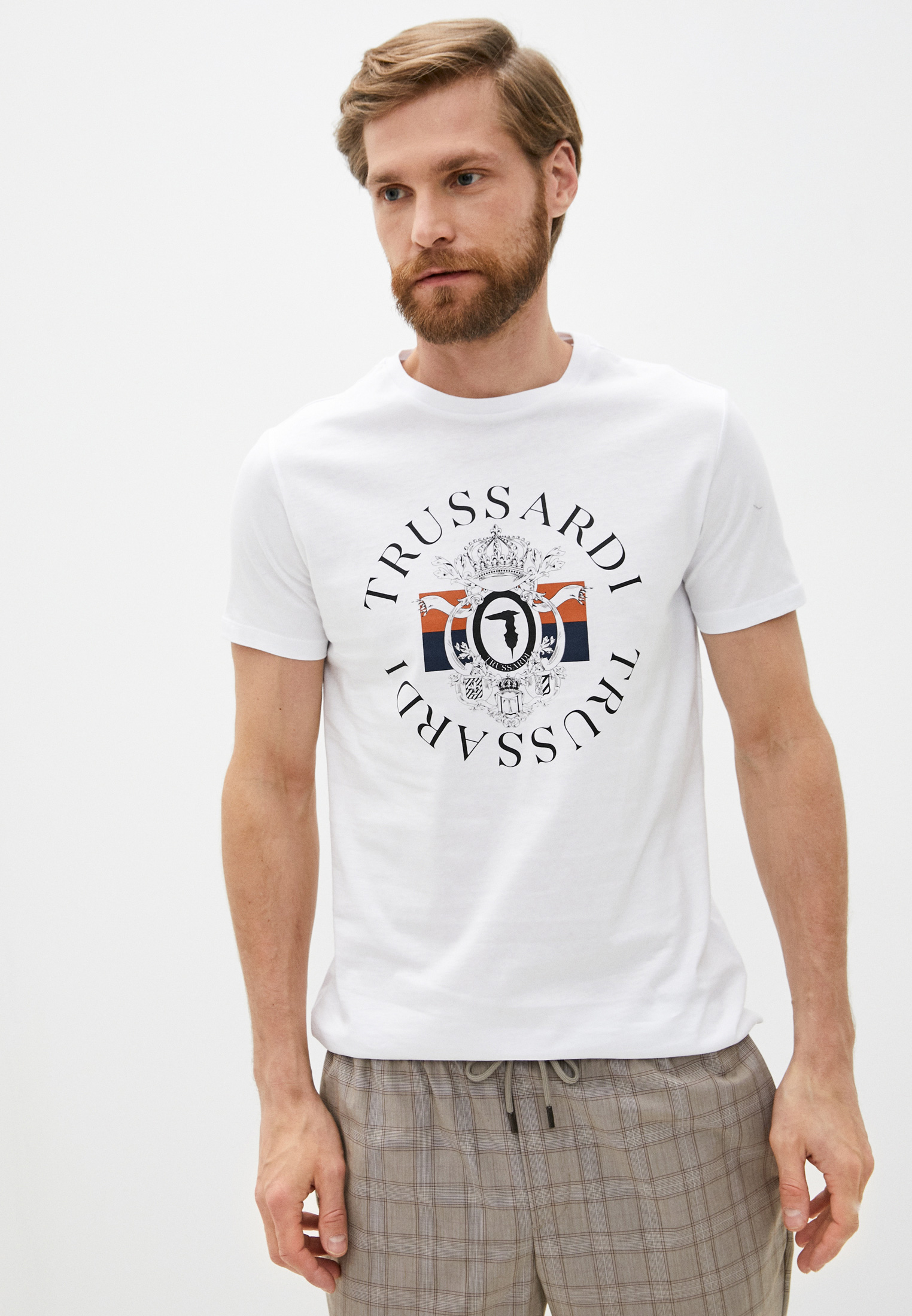 Мужская футболка Trussardi (Труссарди) 52T00388-1T003076