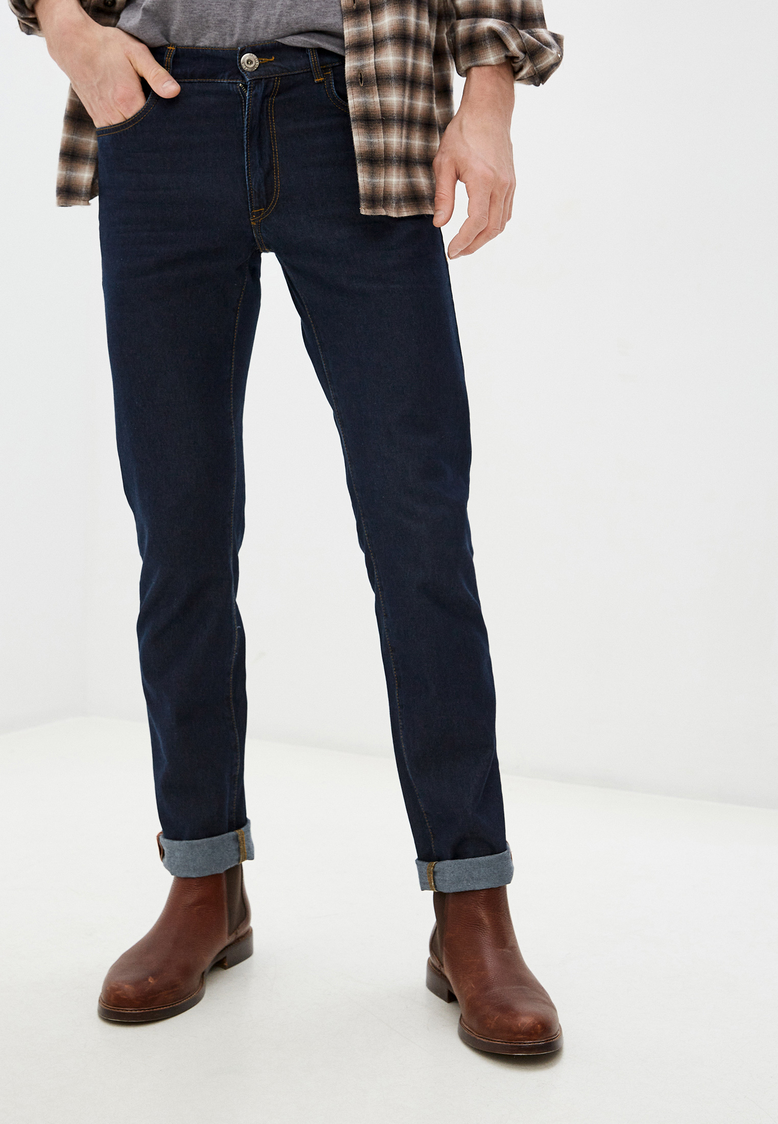 Мужские зауженные джинсы TRUSSARDI JEANS (Труссарди Джинс) 52J00001-1T000611-J-001