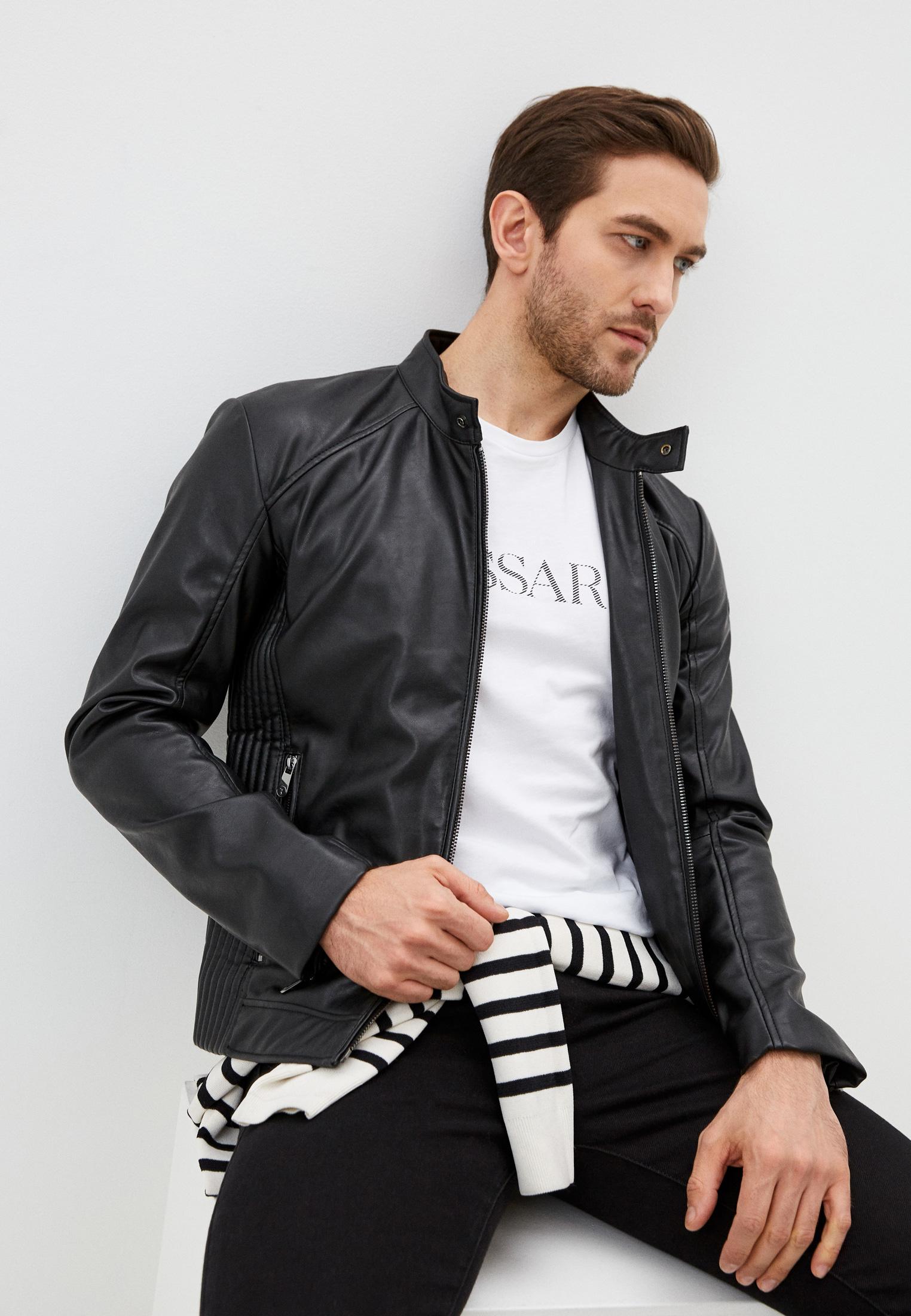 Кожаная куртка Trussardi (Труссарди) Куртка кожаная Trussardi