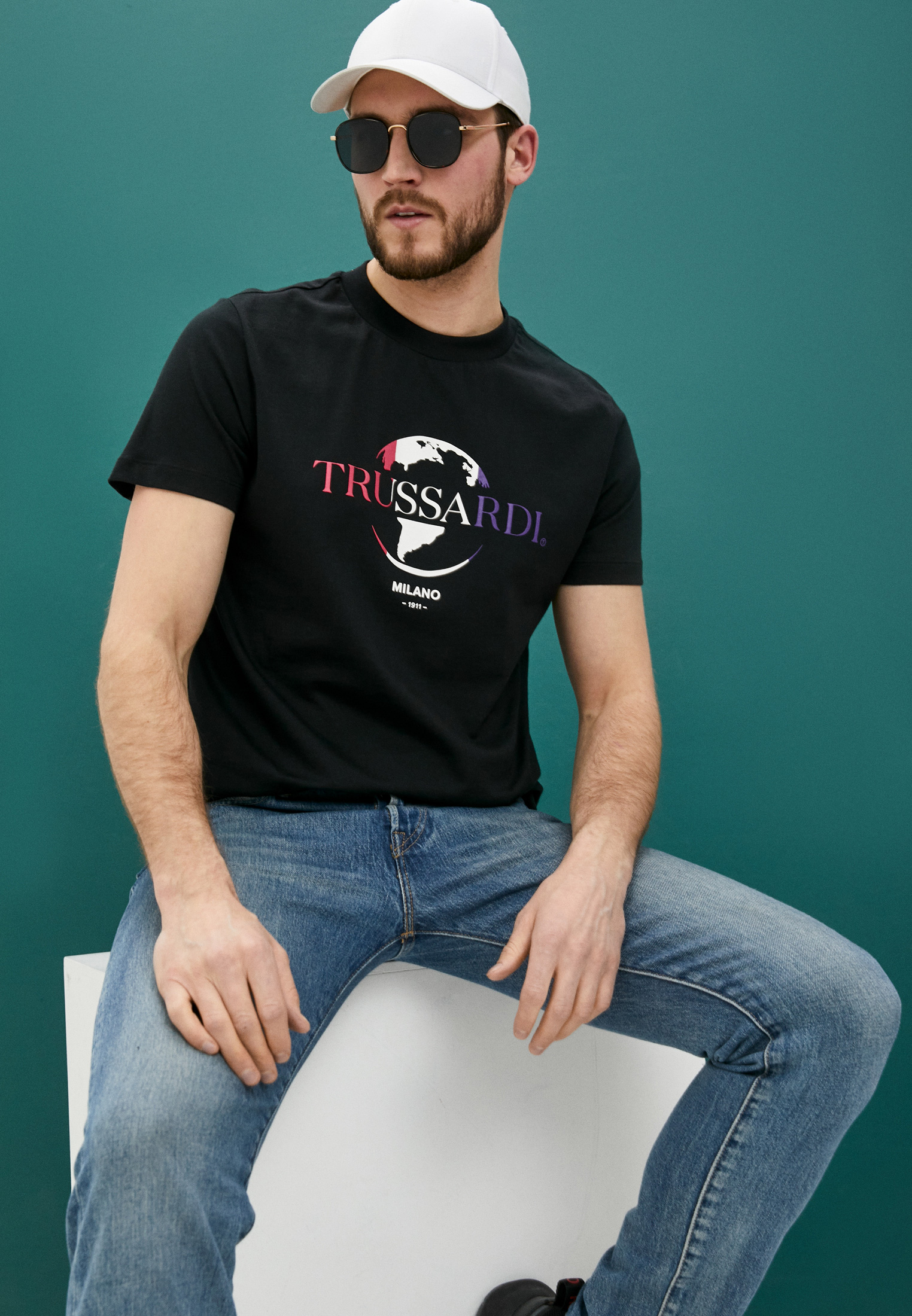 Мужская футболка Trussardi (Труссарди) 52T00443-1T005227: изображение 2