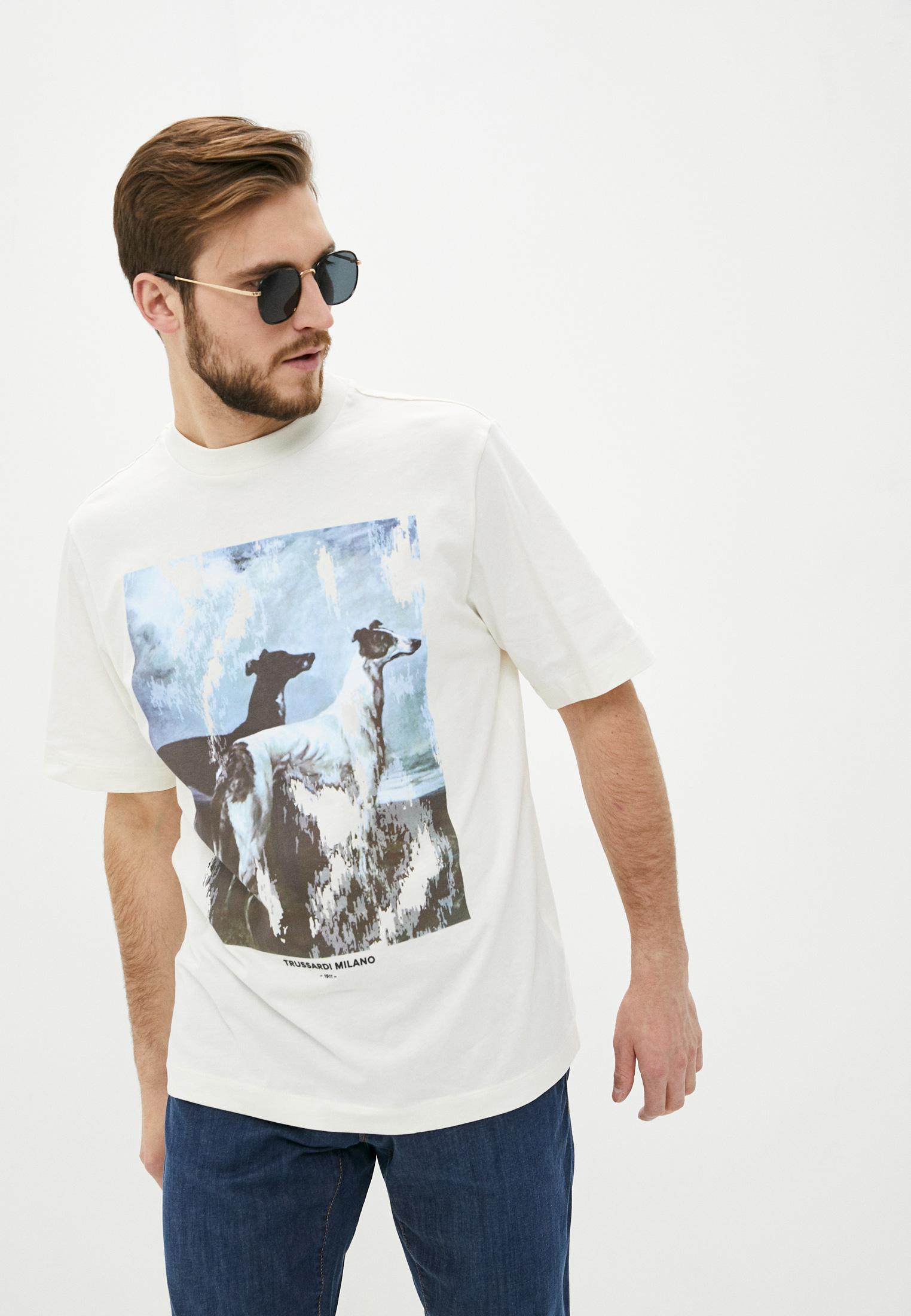 Мужская футболка Trussardi (Труссарди) 52T00455-1T005053: изображение 1