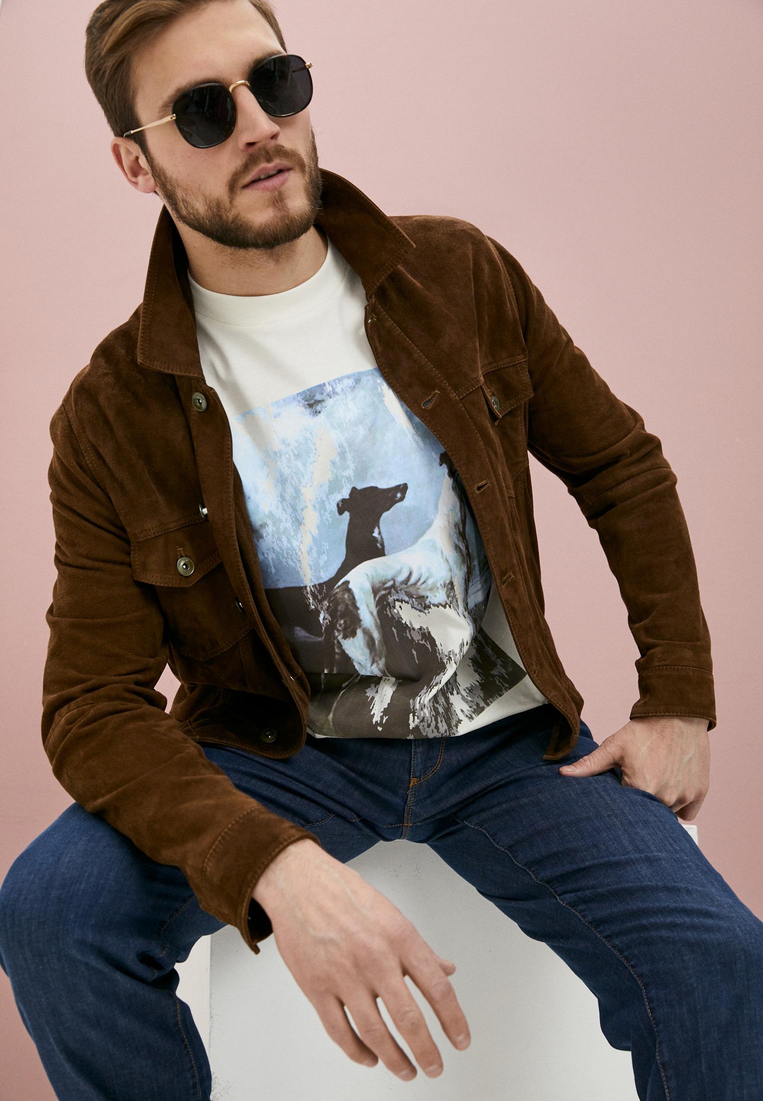 Мужская футболка Trussardi (Труссарди) 52T00455-1T005053: изображение 2