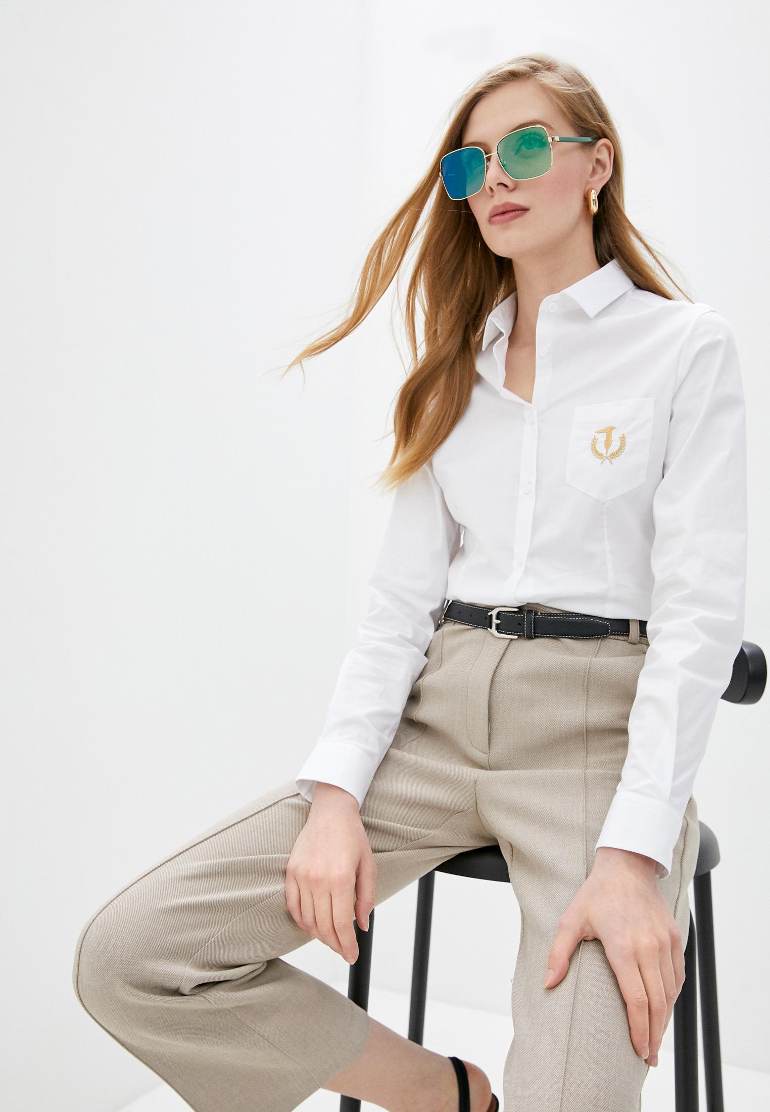 Женские рубашки с длинным рукавом TRUSSARDI JEANS (Труссарди Джинс) 56C00313