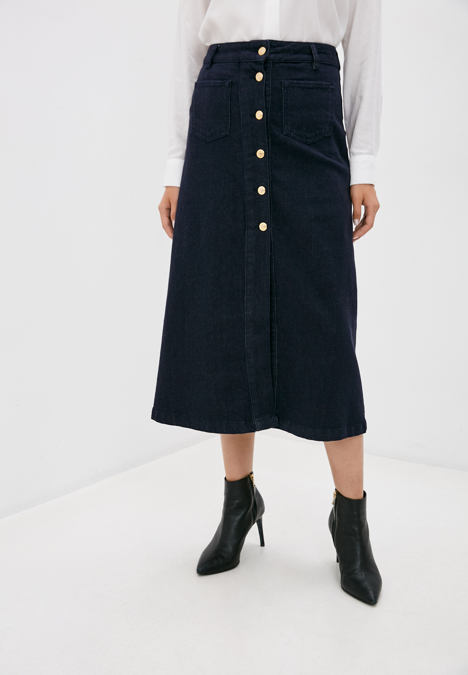 Джинсовая юбка TRUSSARDI JEANS (Труссарди Джинс) 56G00138-1T004376