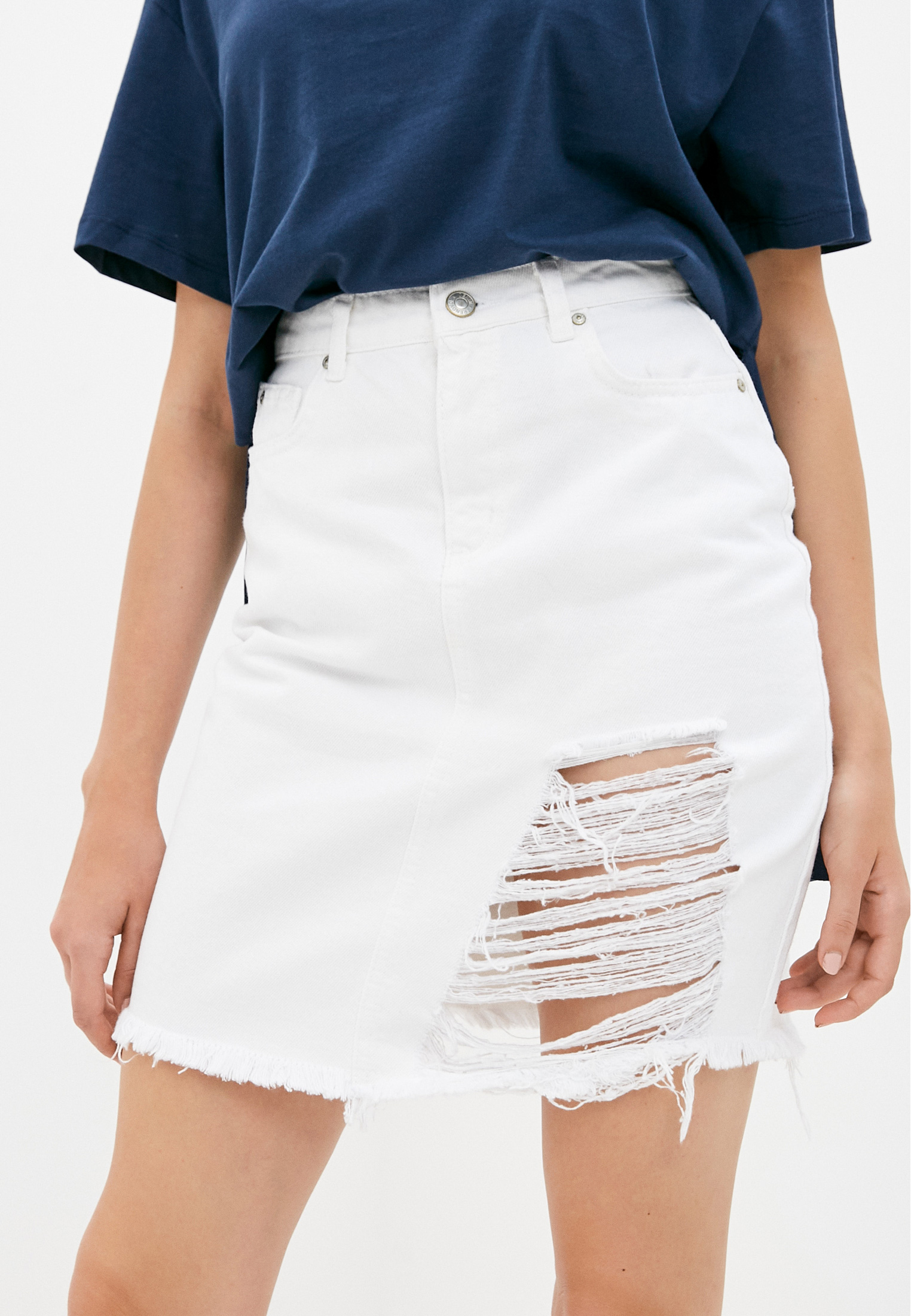 Джинсовая юбка Trendyol TWOSS20ET0493