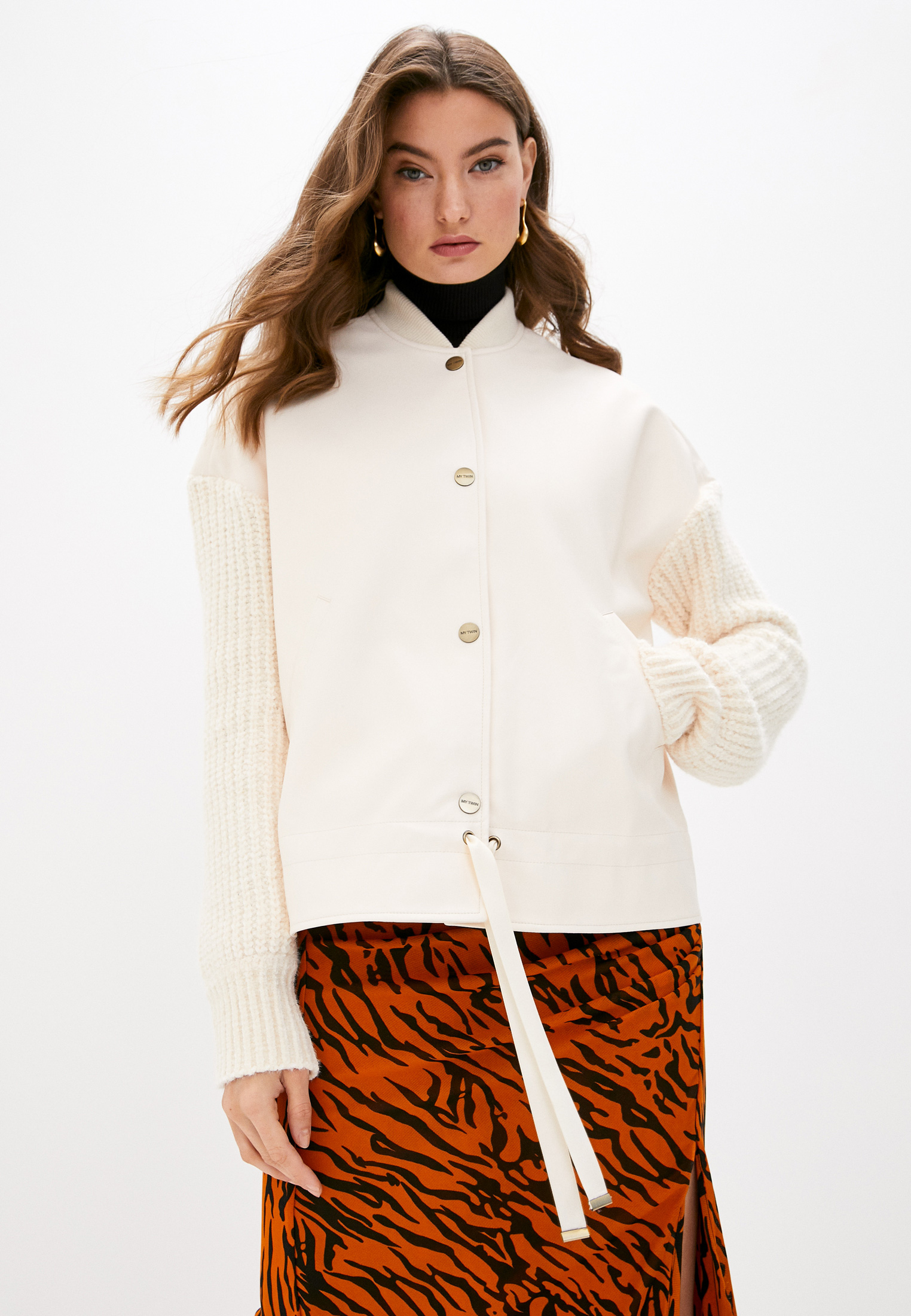 Кожаная куртка Twinset Milano 202MP2520