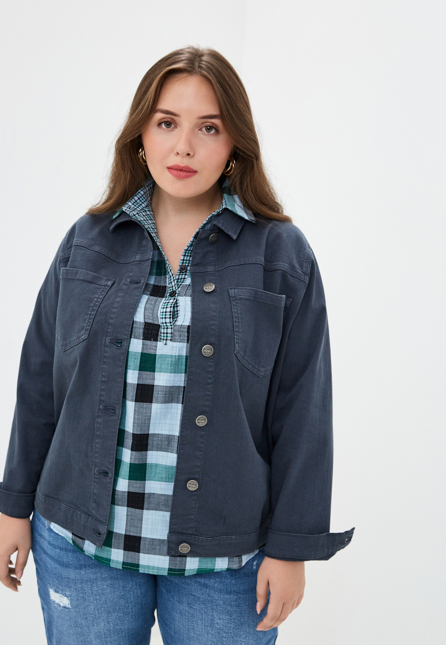 Джинсовая куртка Ulla Popken (Улла Пупкин) 74964470