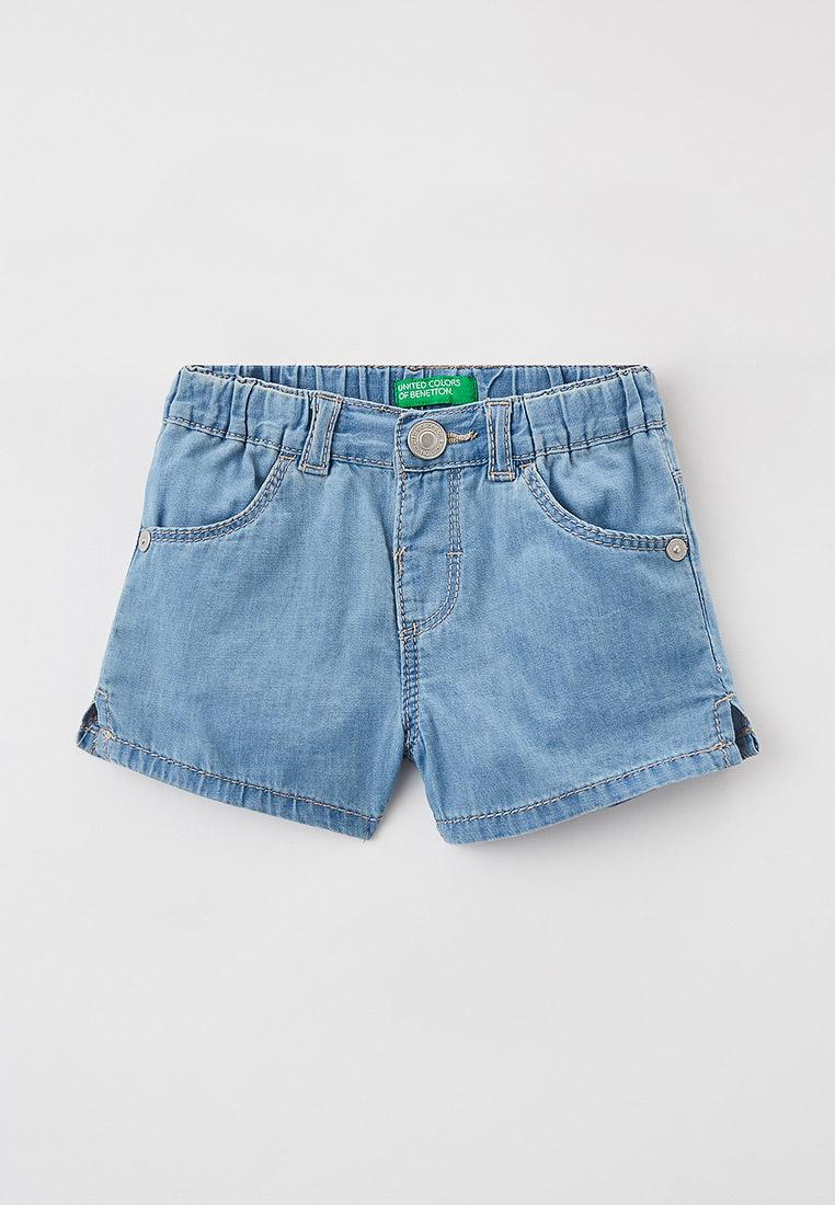 Шорты для девочек United Colors of Benetton (Юнайтед Колорс оф Бенеттон) Шорты джинсовые United Colors of Benetton