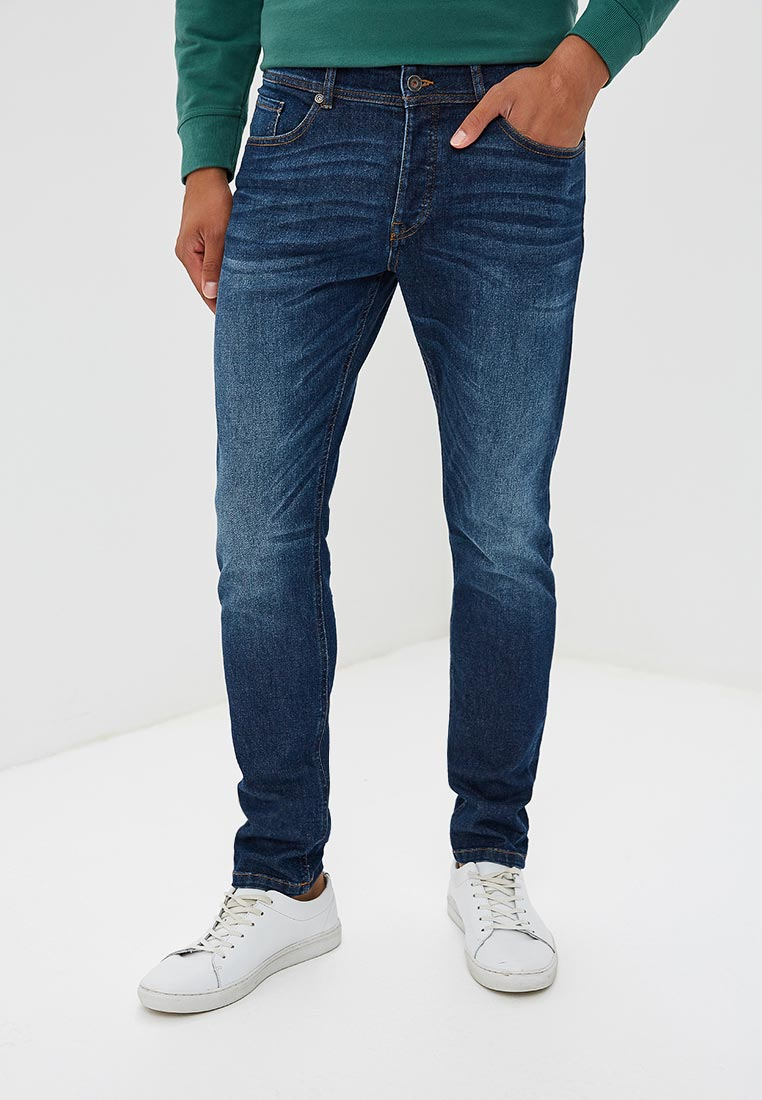 Зауженные джинсы United Colors of Benetton (Юнайтед Колорс оф Бенеттон) 4DHH57A58