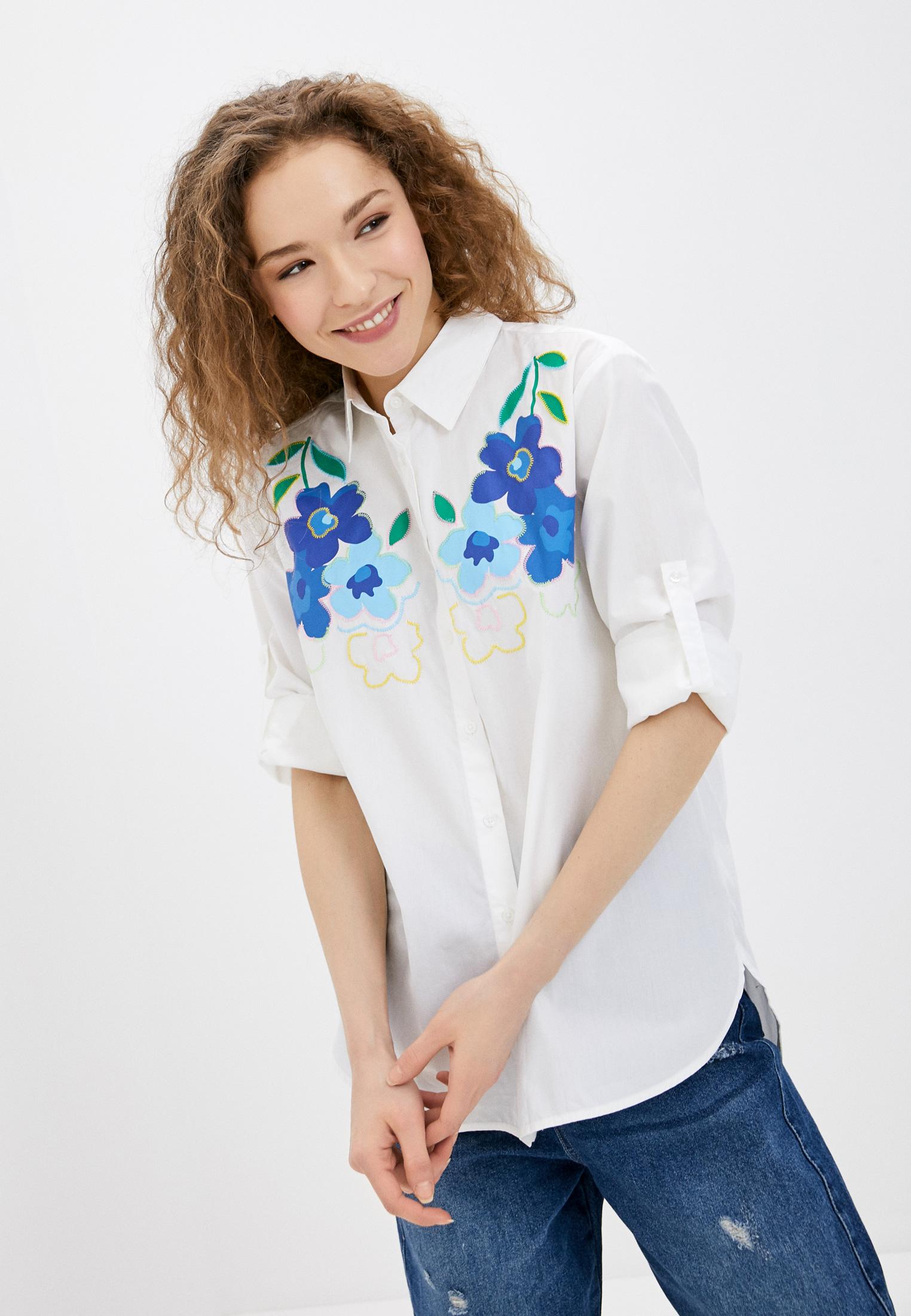 Женские рубашки с длинным рукавом United Colors of Benetton (Юнайтед Колорс оф Бенеттон) 5EW75QBI4
