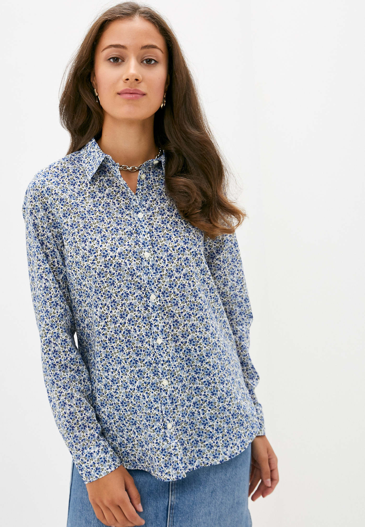 Женские рубашки с длинным рукавом United Colors of Benetton (Юнайтед Колорс оф Бенеттон) 5AIC5Q8U4