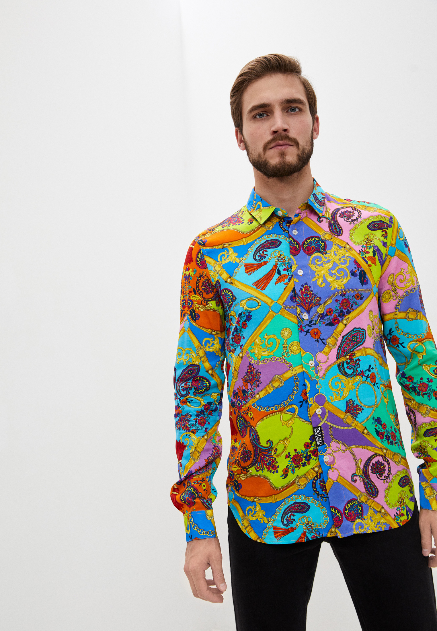 Рубашка с длинным рукавом Versace Jeans Couture B1GZA6S8S0827
