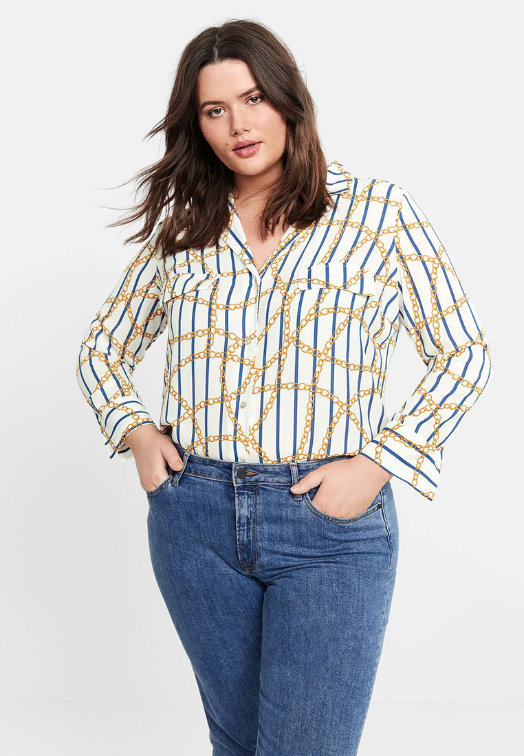 Женские рубашки с длинным рукавом Violeta by Mango (Виолетта бай Манго) 51020631