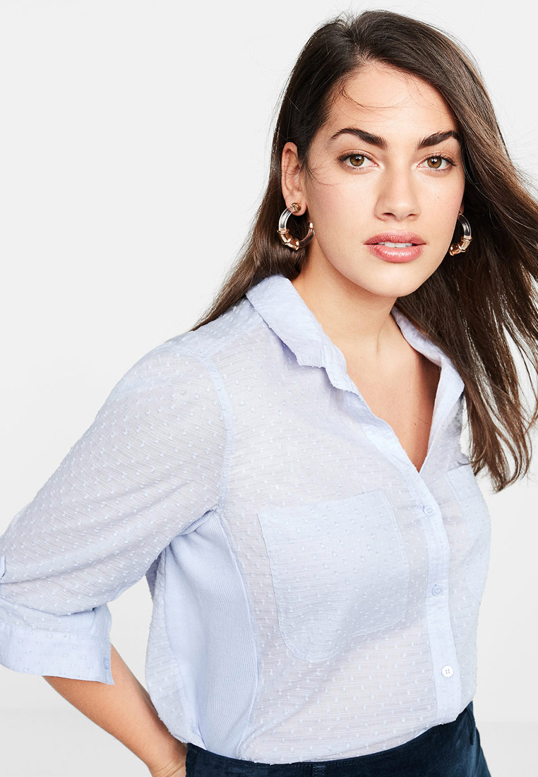 Женские рубашки с длинным рукавом Violeta by Mango (Виолетта бай Манго) 53040423