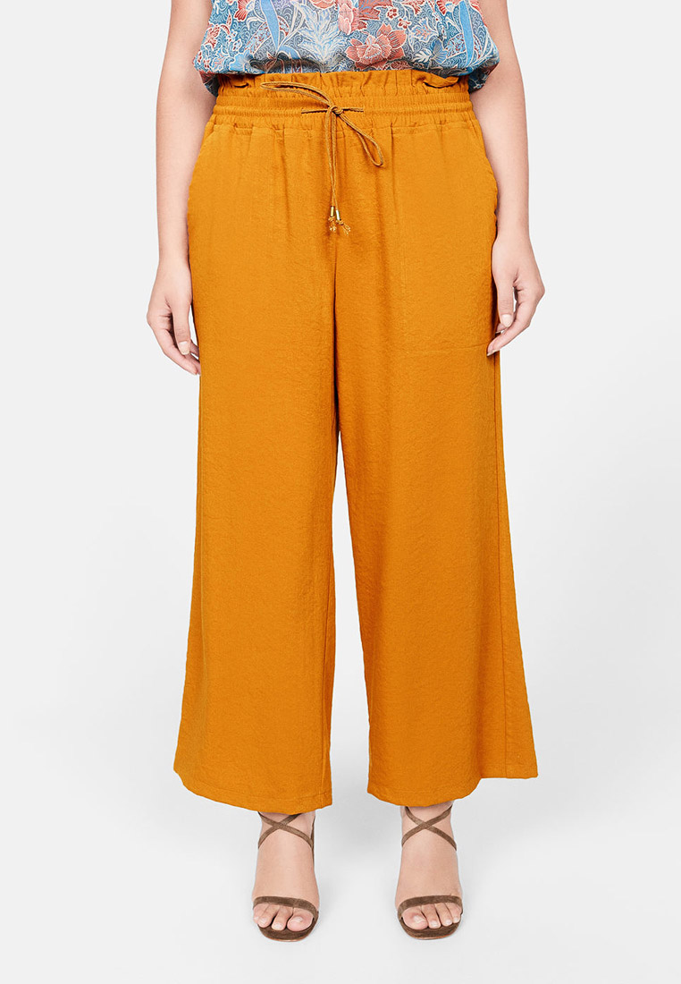 Женские широкие и расклешенные брюки Violeta by Mango (Виолетта бай Манго) 53023732