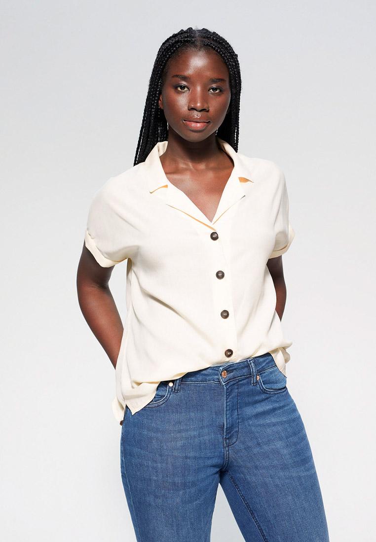 Рубашка с коротким рукавом Violeta by Mango (Виолетта бай Манго) 67077648