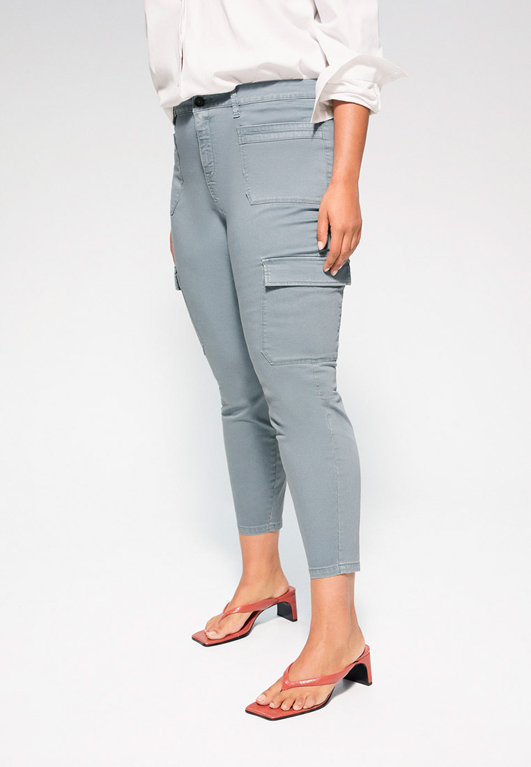 Женские зауженные брюки Violeta by Mango (Виолетта бай Манго) 67045942