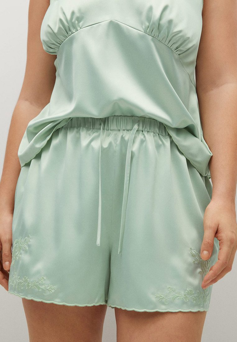 Женские домашние брюки Violeta by Mango (Виолетта бай Манго) Шорты домашние Violeta by Mango