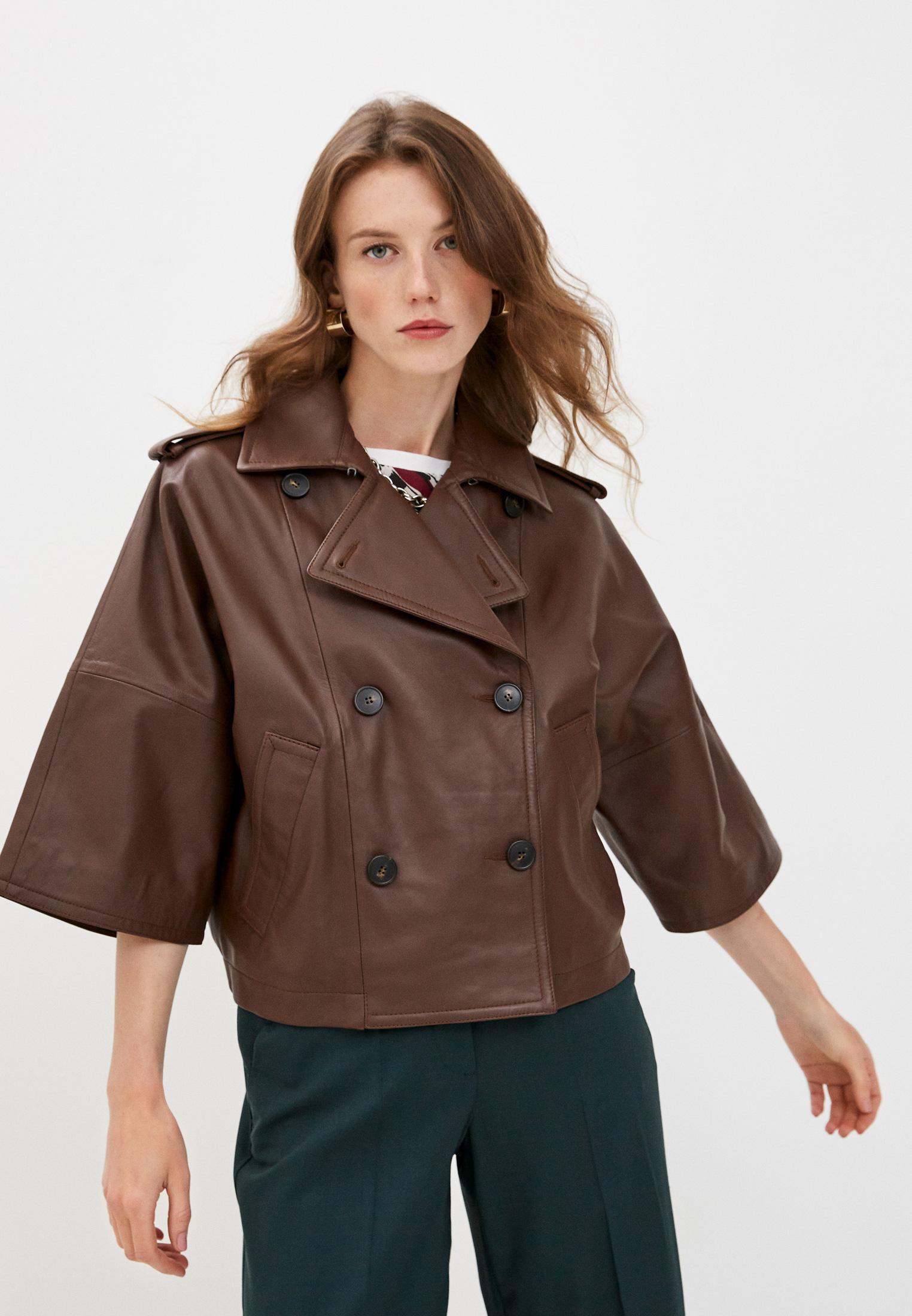 Кожаная куртка Weekend Max Mara 54460309