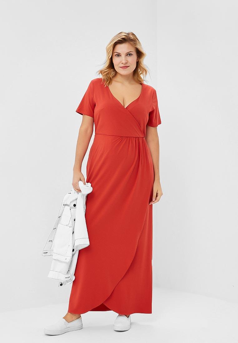 Вязаное платье Wersimi W27_BRICK