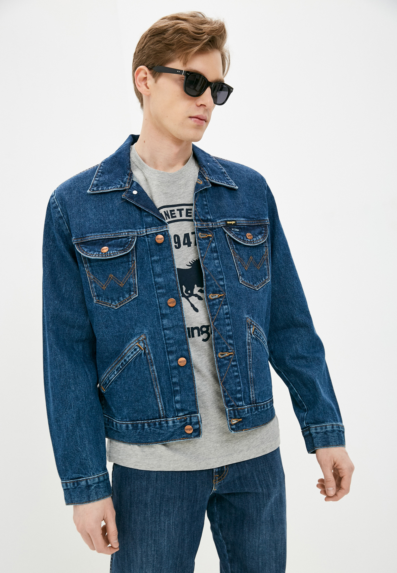Джинсовая куртка Wrangler (Вранглер) W4MJUG923: изображение 4