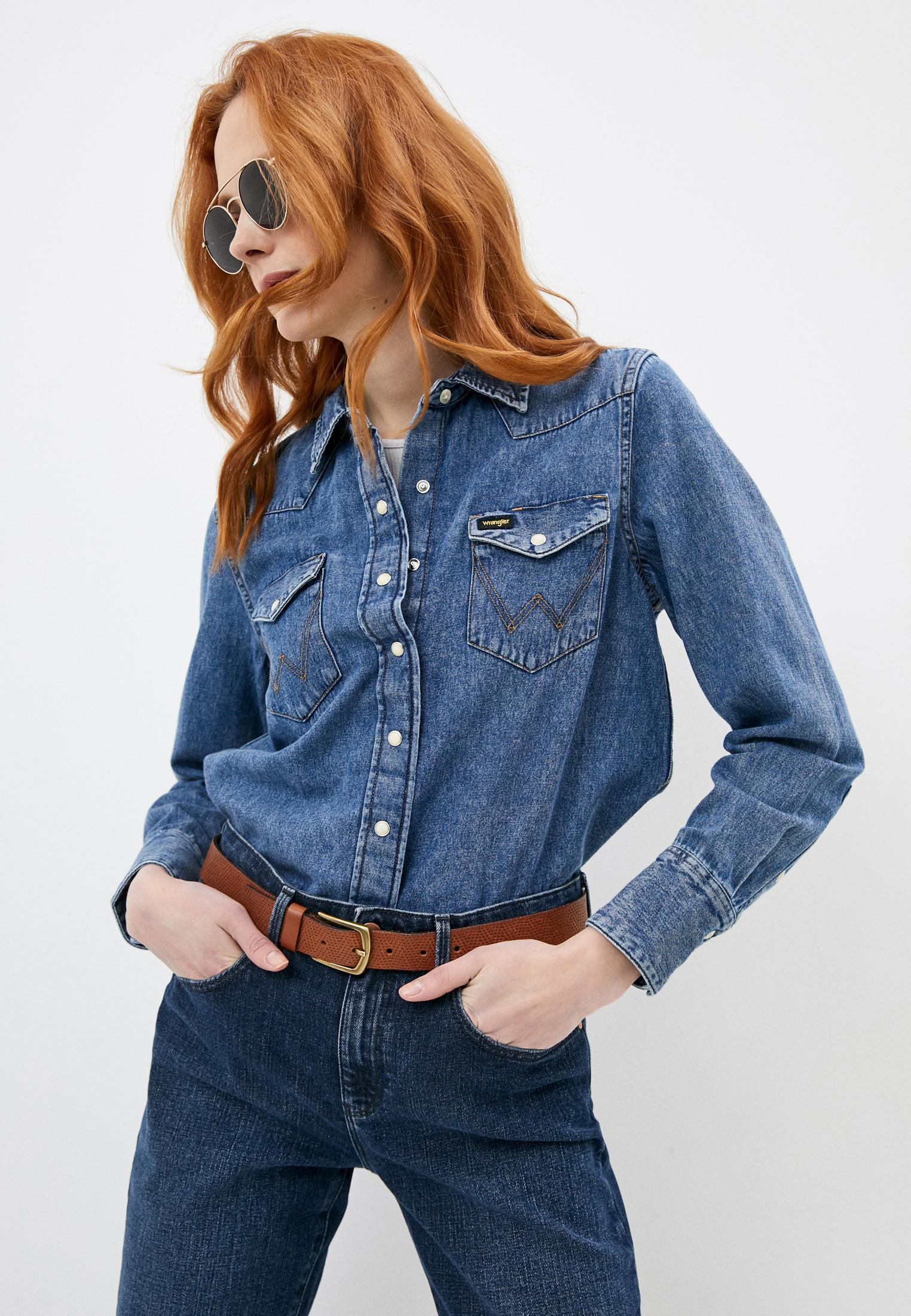 Женские джинсовые рубашки Wrangler (Вранглер) Рубашка джинсовая Wrangler