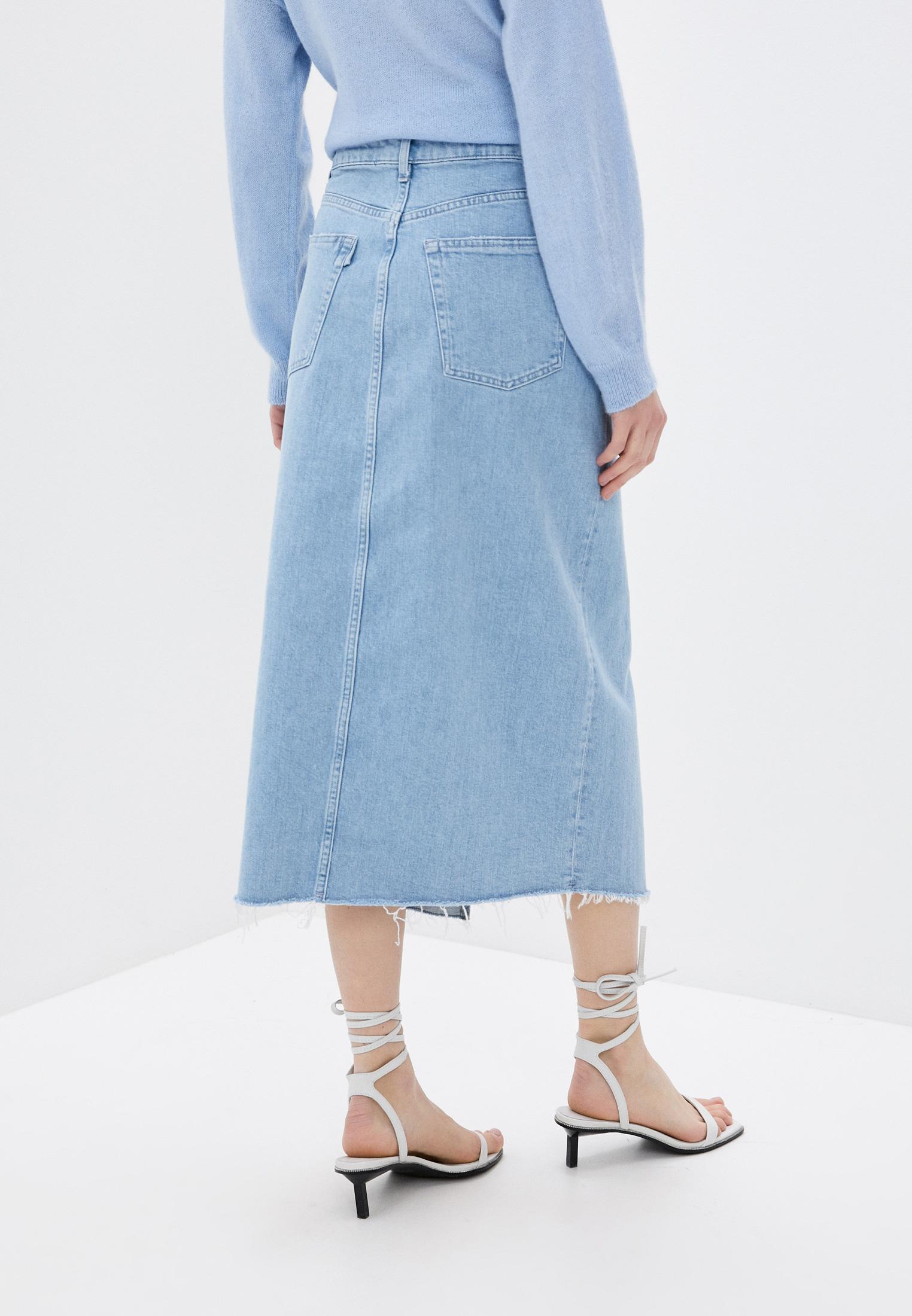 Джинсовая юбка 3X1 WS0021079: изображение 4
