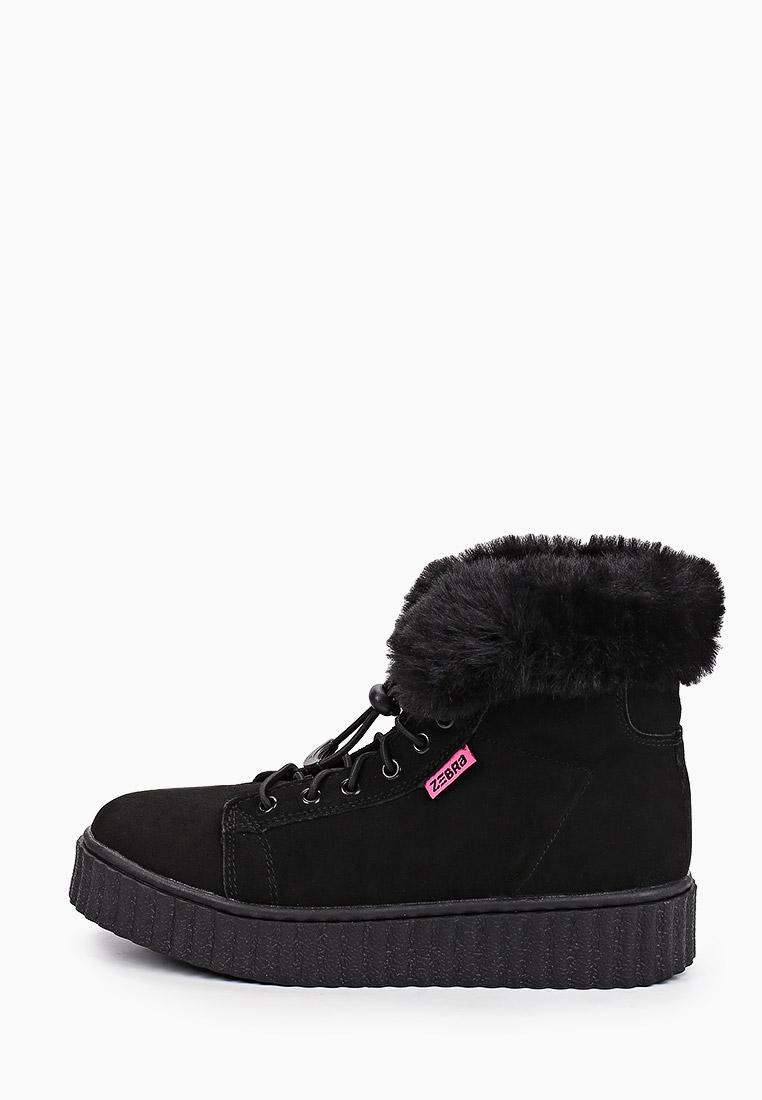 Ботинки для девочек Зебра 15656-1